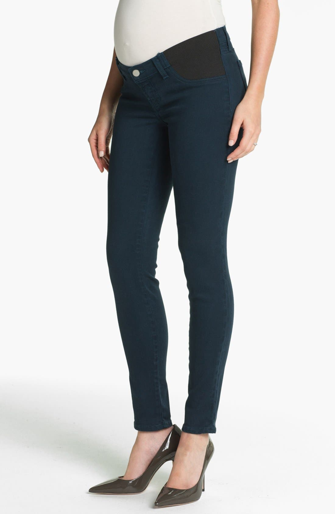 Alternate Image 1 Selected - J Brand Denim Maternity Leggings (Nirvana Blue)