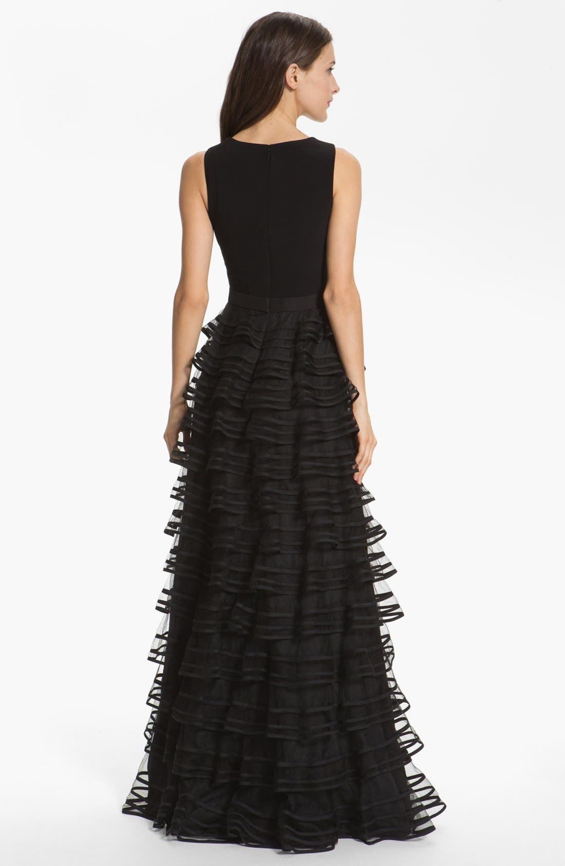 Alternate Image 2  - Kathy Hilton Sleeveless Tiered Mesh Dress