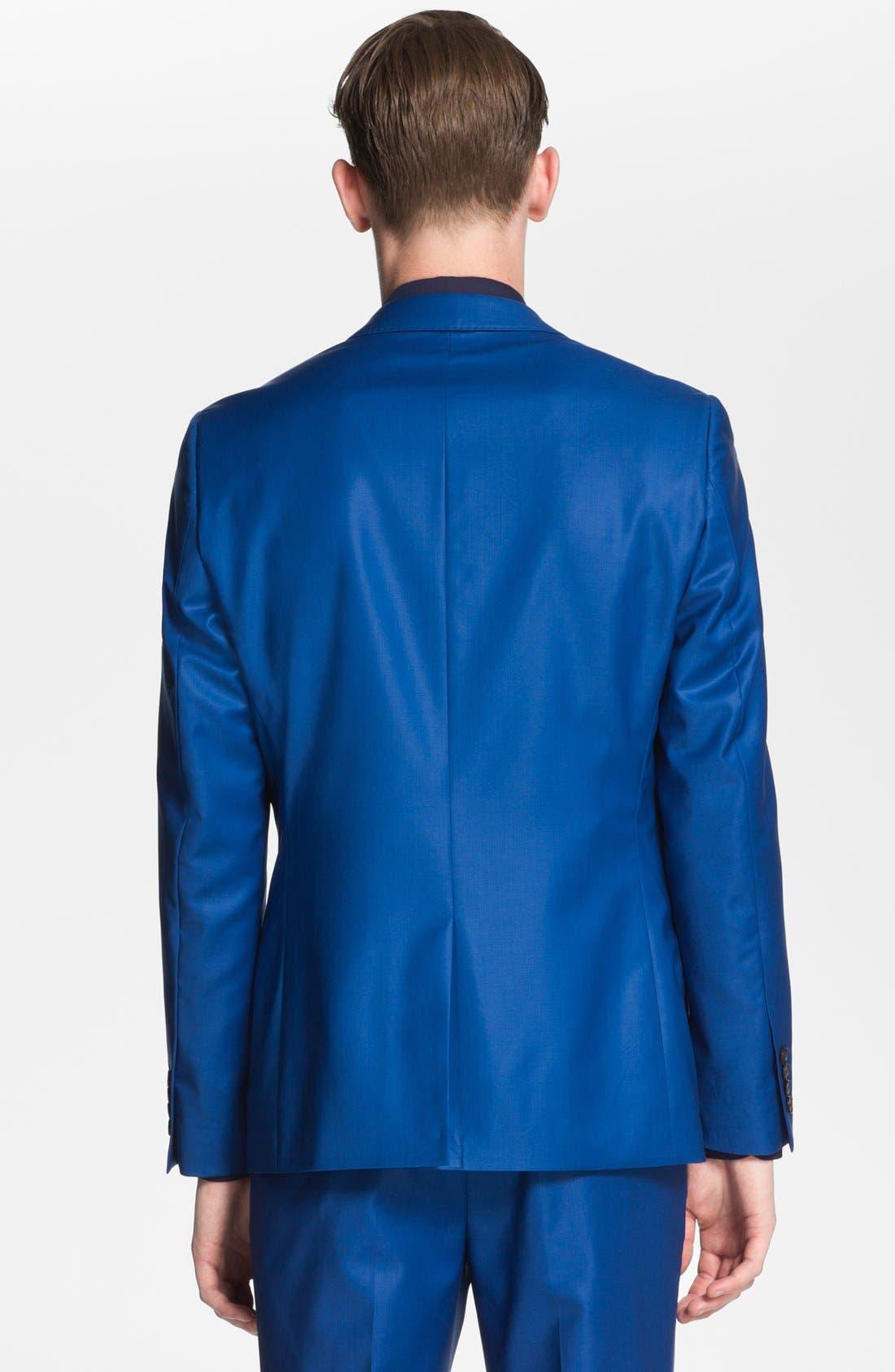 Alternate Image 2  - Topman 'Lux Collection' Slim Fit Wool Blazer