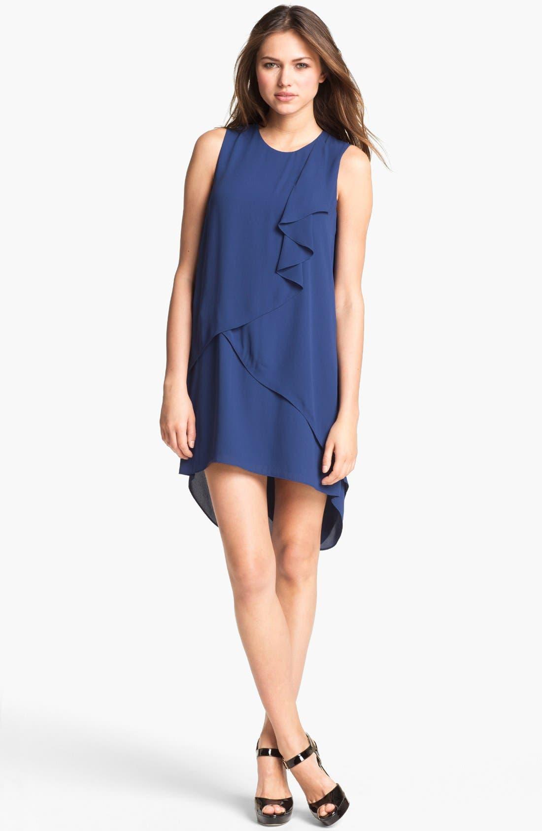 Alternate Image 1 Selected - BCBGMAXAZRIA Ruffle Chiffon Dress
