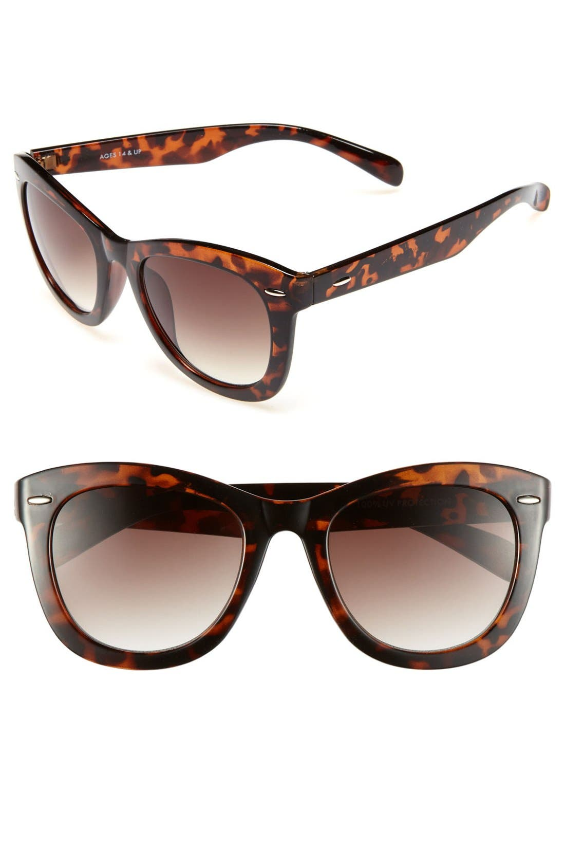 Alternate Image 1 Selected - Fantas Eyes Tortoise Shell Cat Eye 52mm Sunglasses (Juniors)