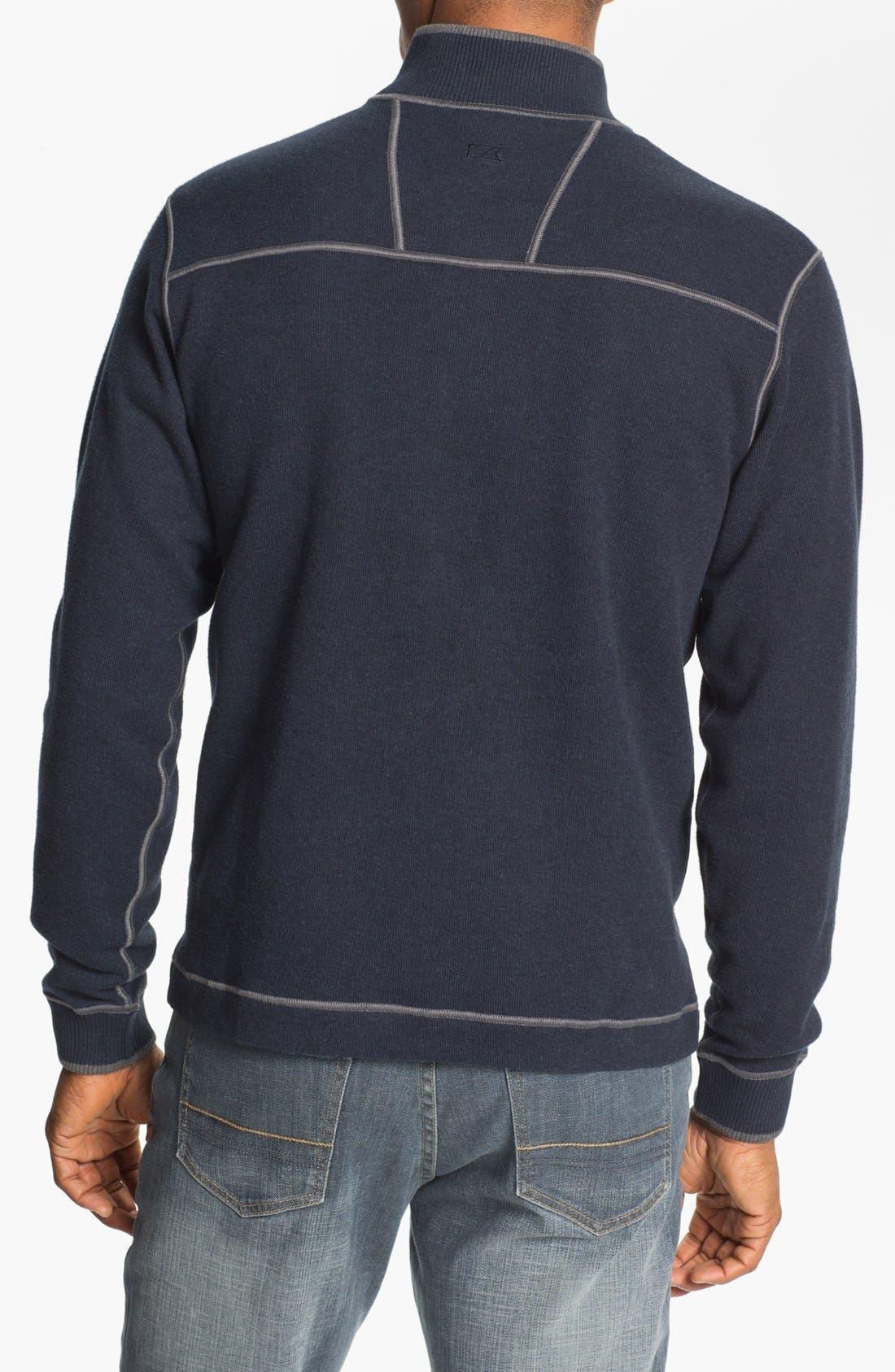 Alternate Image 2  - Cutter & Buck 'Overtime' Regular Fit Half Zip Sweater (Big & Tall)
