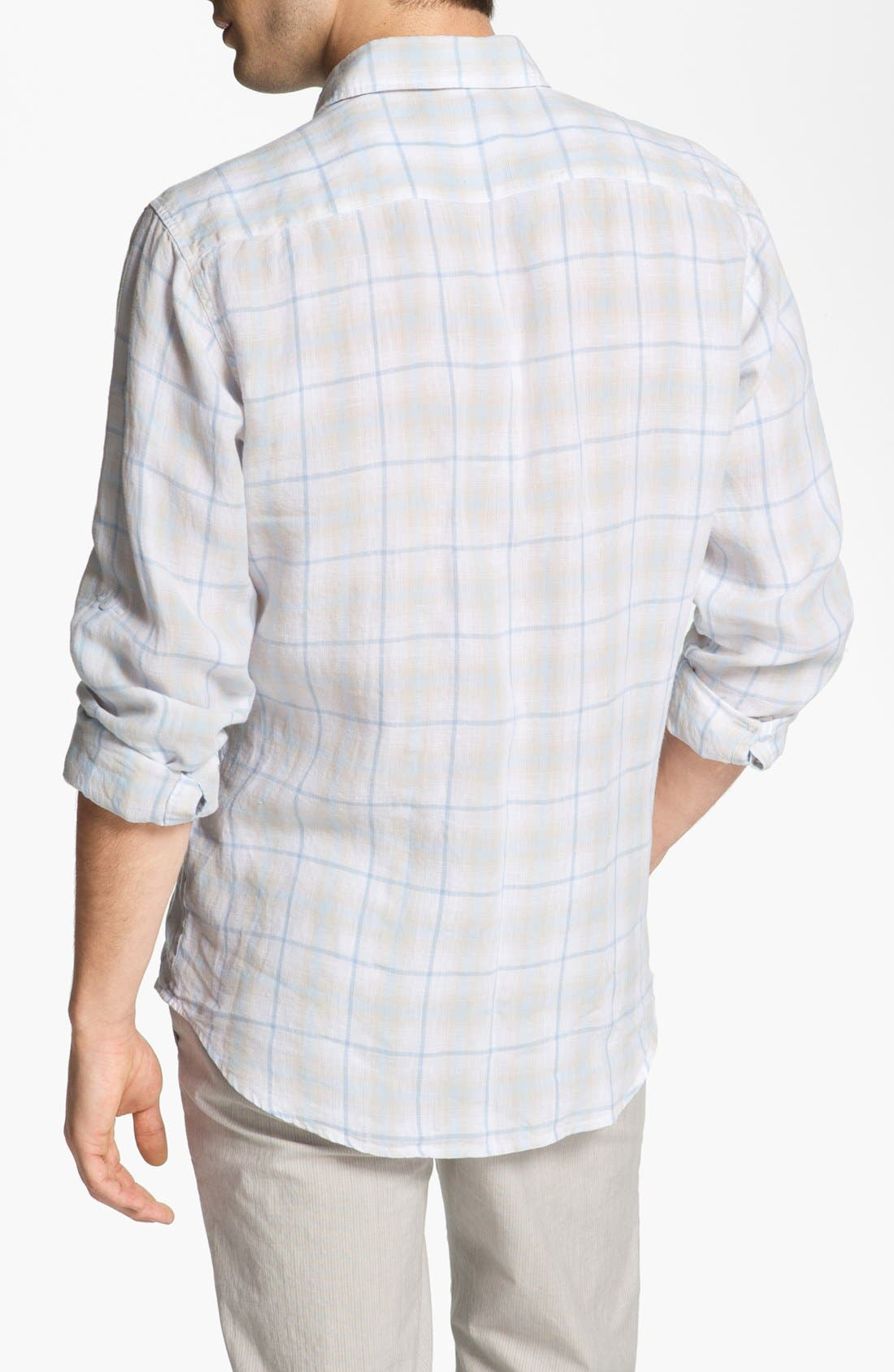 Alternate Image 2  - Toscano Linen Sport Shirt