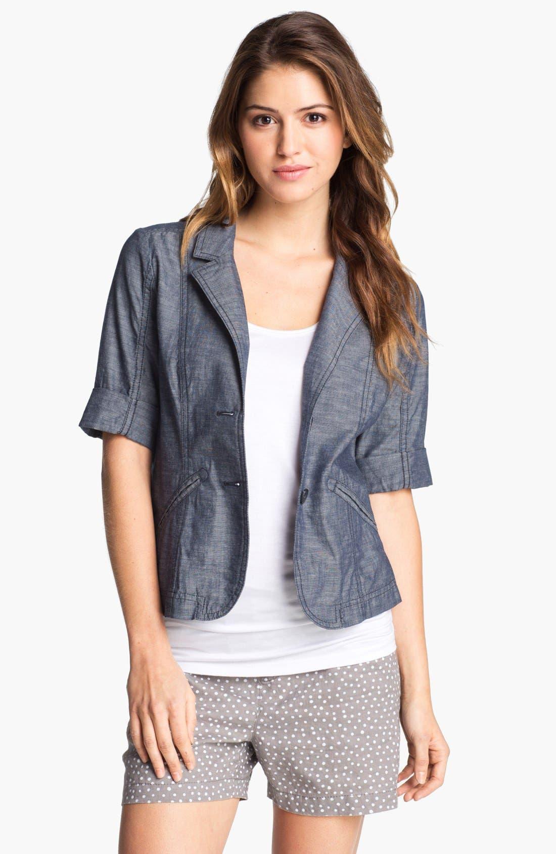 Main Image - Caslon® Cuffed Elbow Sleeve Jacket