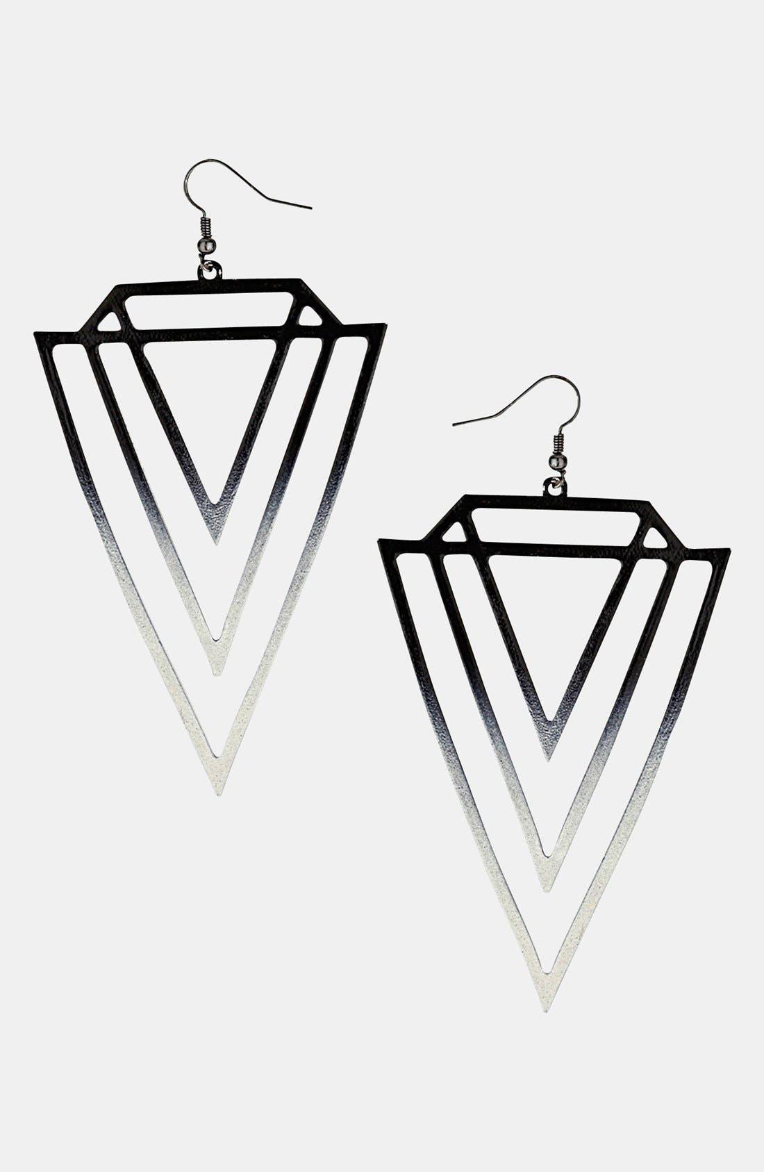 Main Image - Topshop 'Ombré Geo' Drop Earrings
