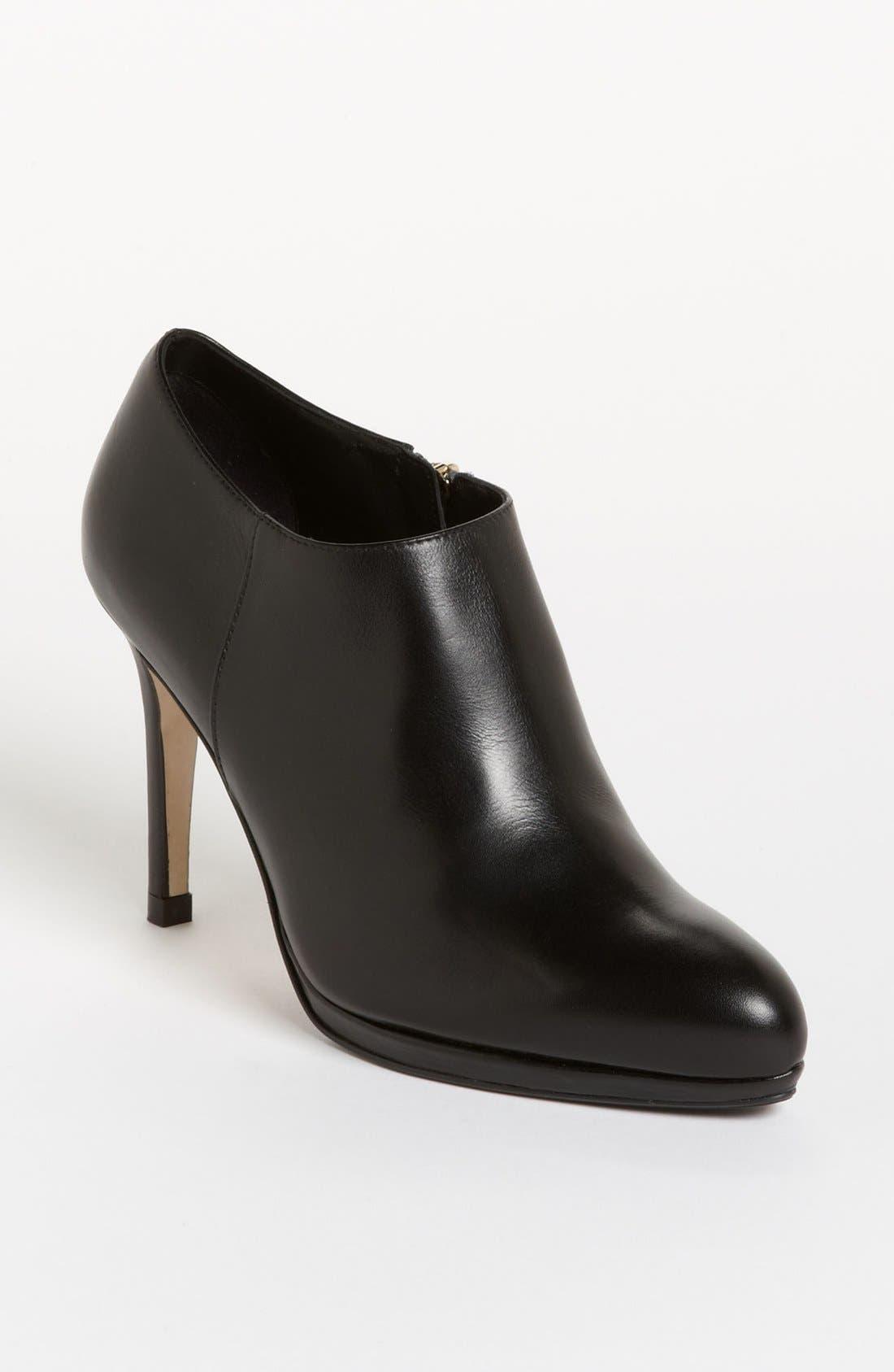 'Doris' Bootie,                             Main thumbnail 1, color,                             Black Leather