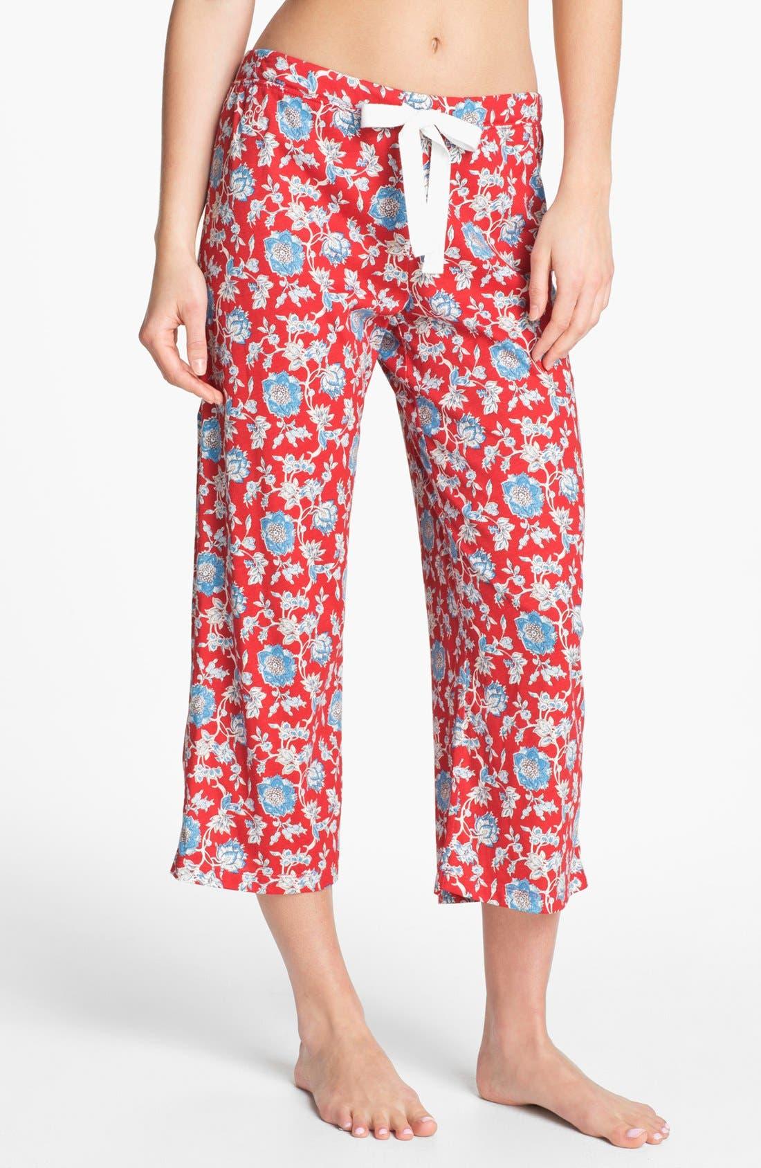 Alternate Image 1 Selected - Lauren Ralph Lauren Capri Pajama Pants