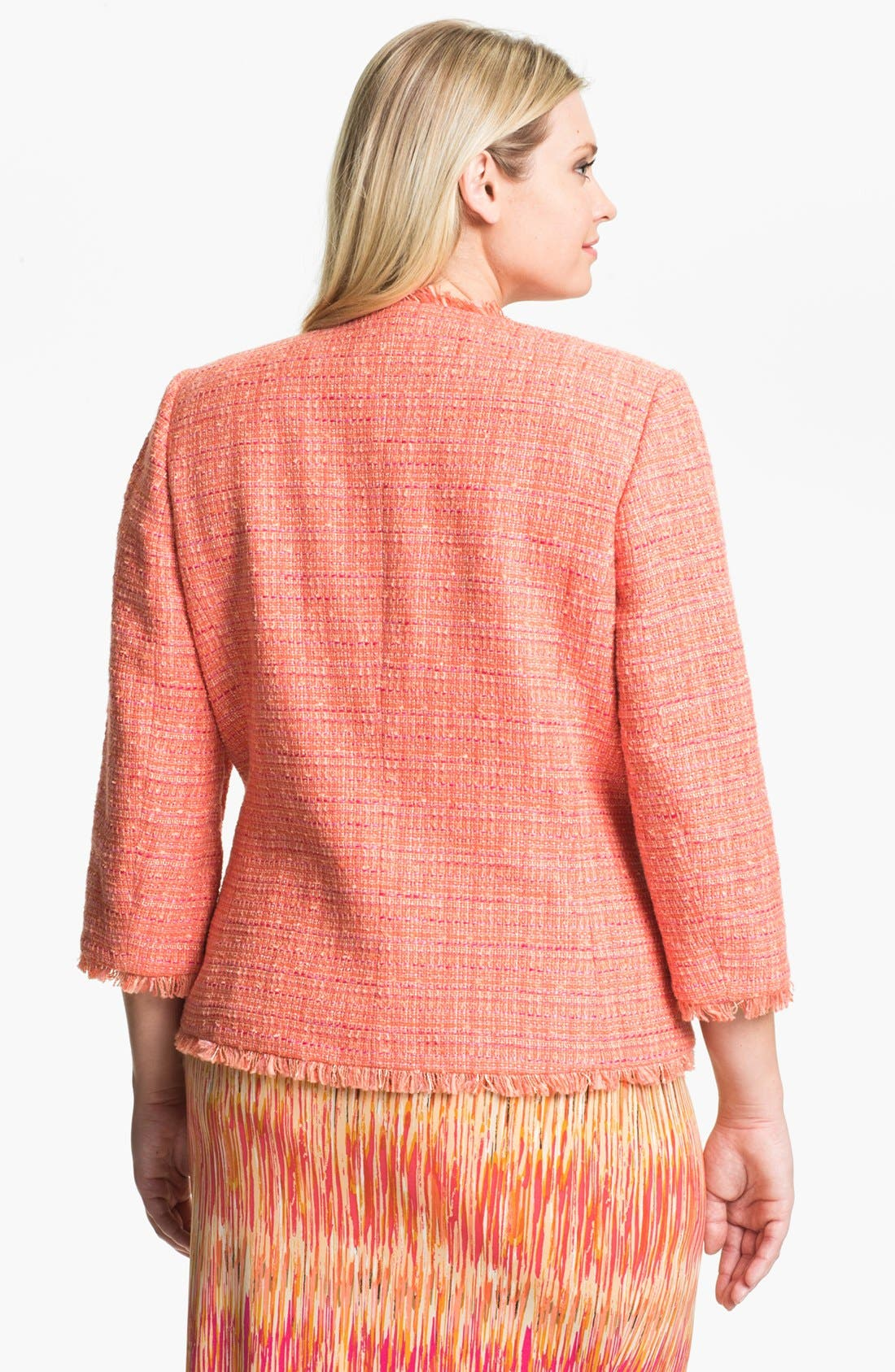 Alternate Image 2  - Vince Camuto Tweed Jacket (Plus Size)