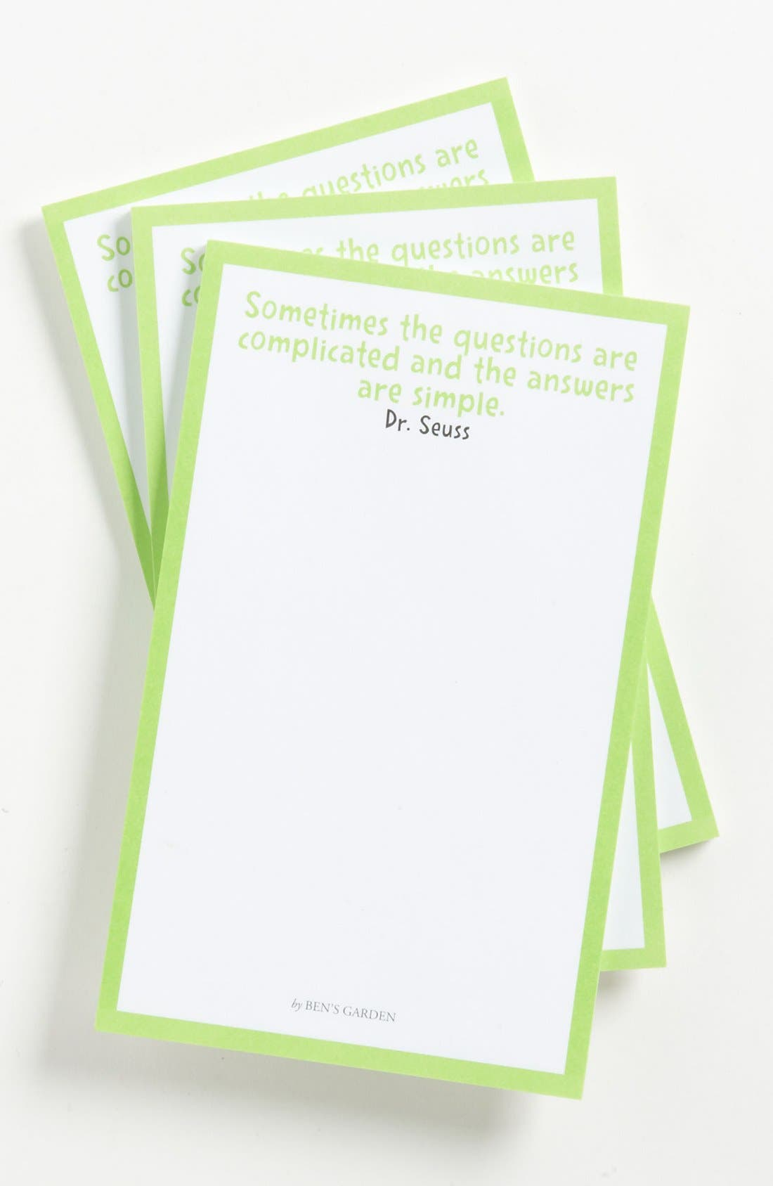 Alternate Image 1 Selected - Ben's Garden 'Sometimes the Questions' Notepads (3-Pack)