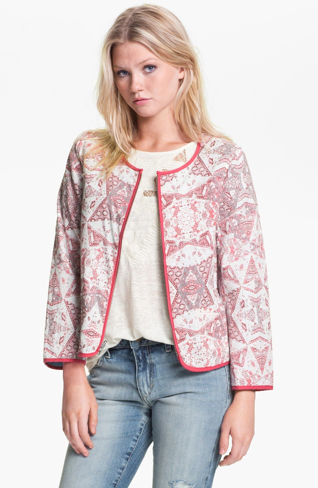 Alternate Image 1 Selected - Sanctuary Quilt Print Jacket
