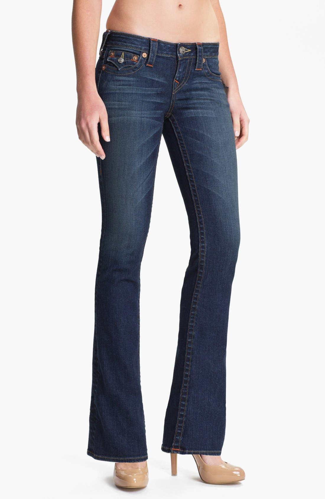 Main Image - True Religion Brand Jeans 'Becky' Bootcut Jeans (Dusty Skies) (Petite)