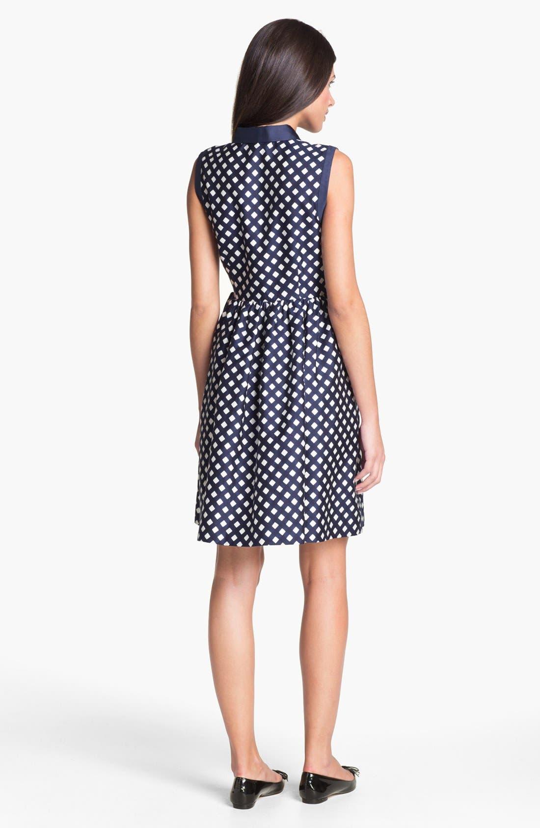 Alternate Image 2  - kate spade new york 'addison' cotton blend fit & flare dress