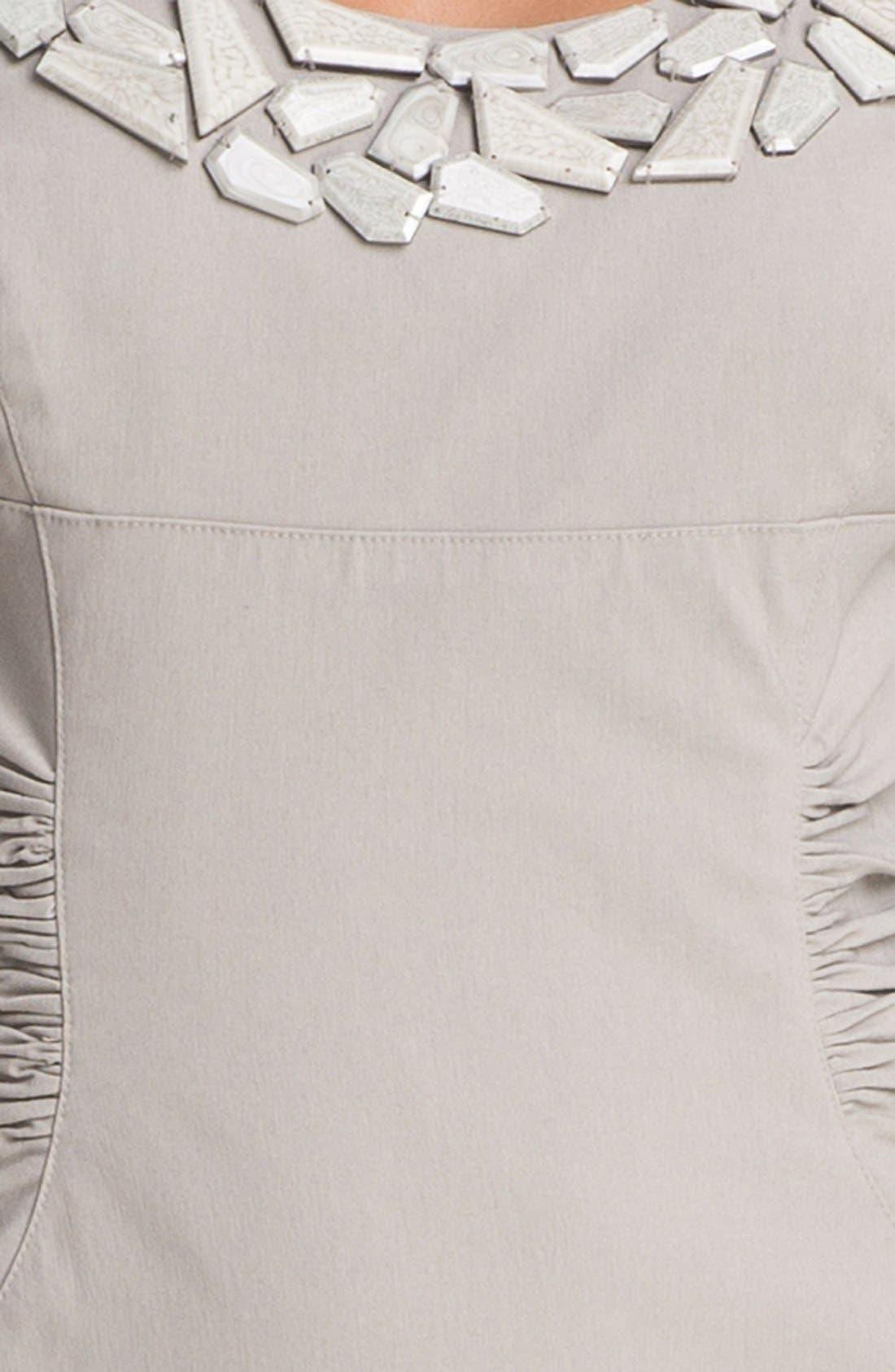 Alternate Image 5  - Adrianna Papell Embellished Ruched Sheath Dress (Petite)
