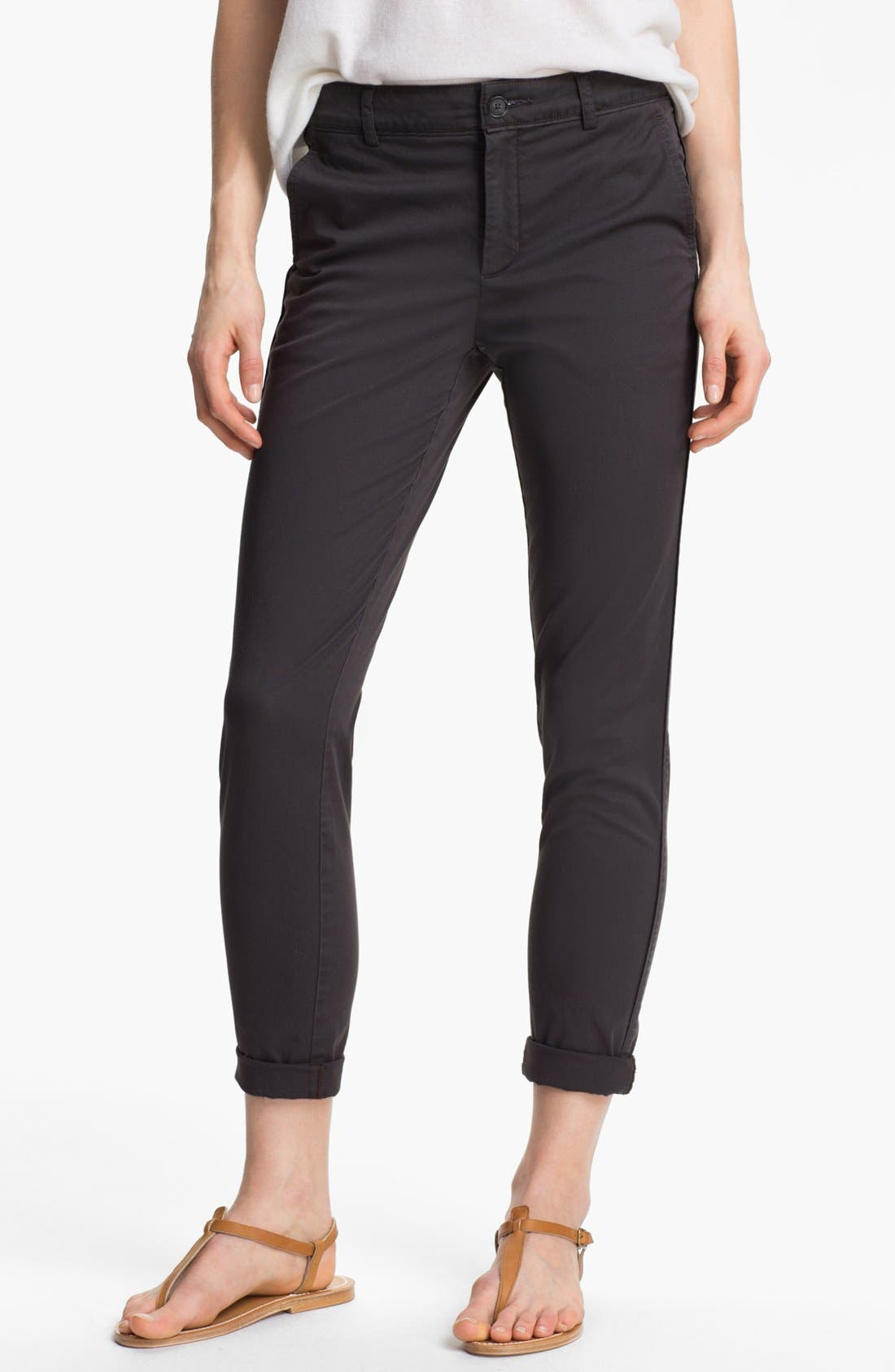 Alternate Image 1 Selected - Vince Stretch Cotton Trousers