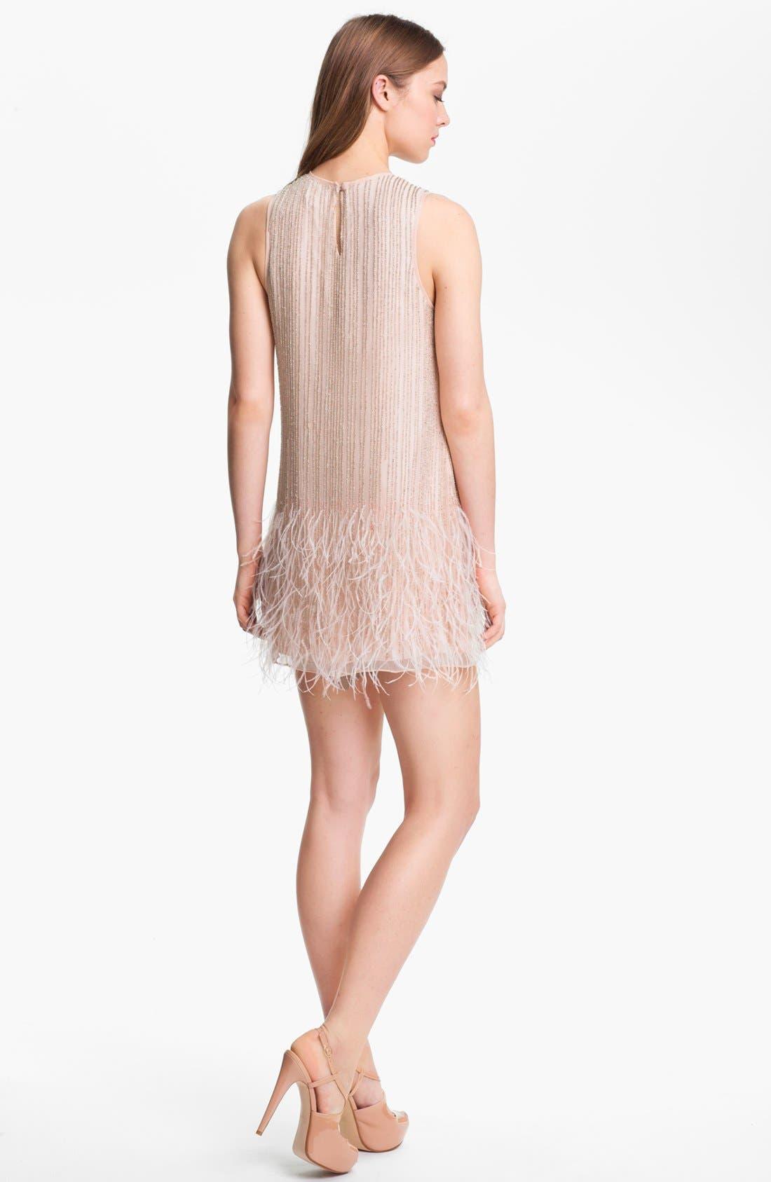 Alternate Image 2  - Parker 'Allegra' Embellished Silk Shift Dress