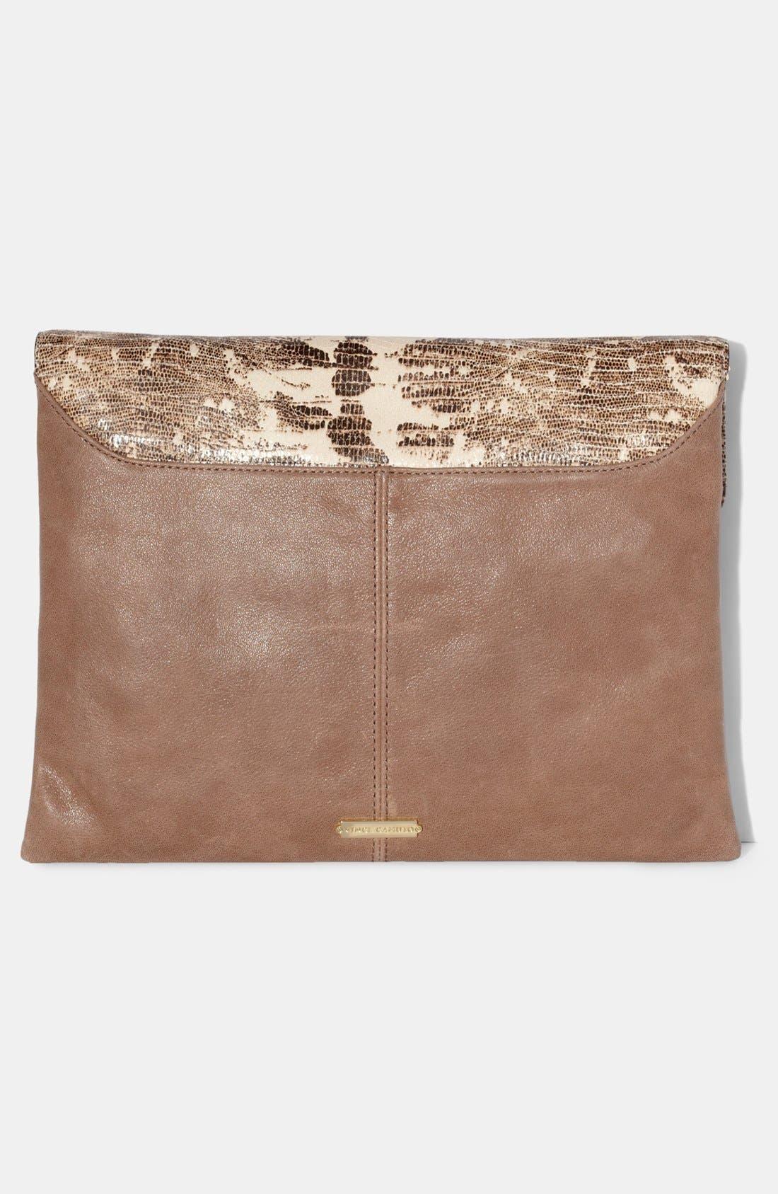 Alternate Image 3  - Vince Camuto 'Julia' Leather Clutch