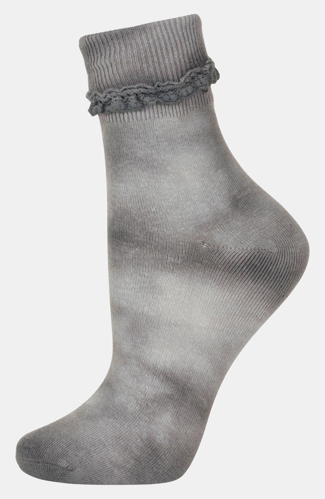 Alternate Image 1 Selected - Topshop Tie Dye Ankle Socks