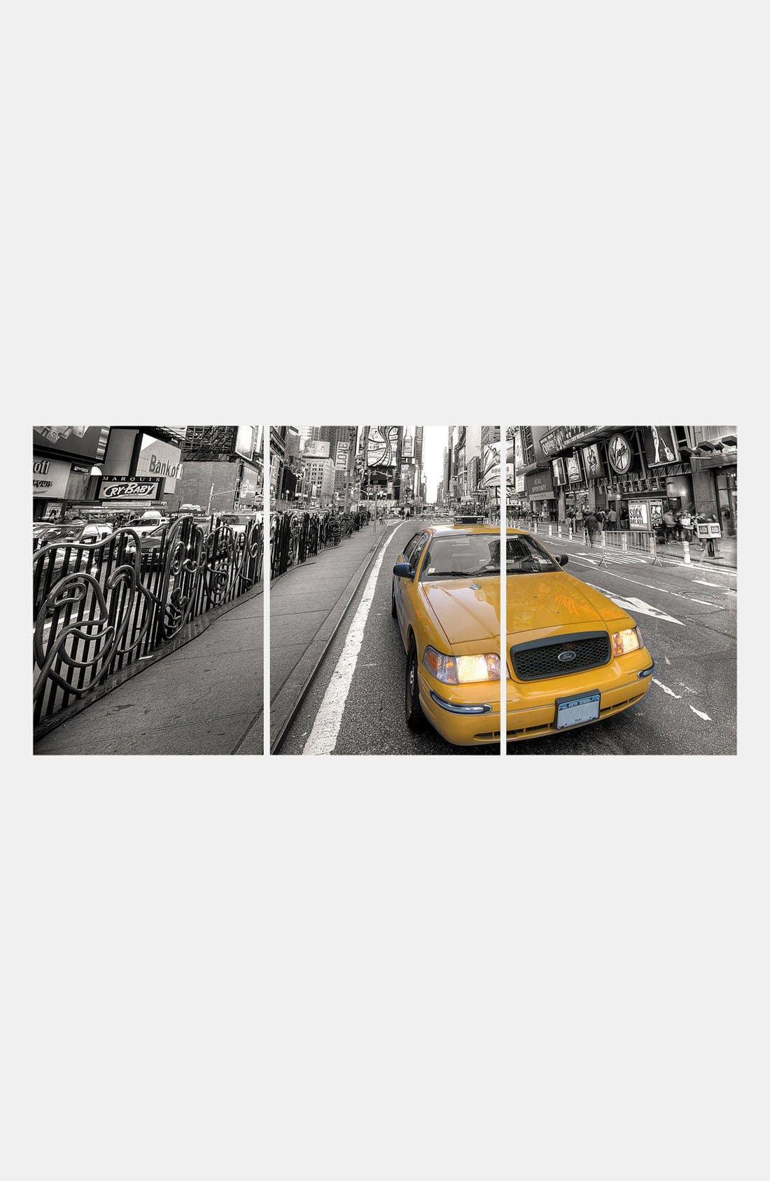 Alternate Image 1 Selected - Wallpops Triptych Taxi Wall Art