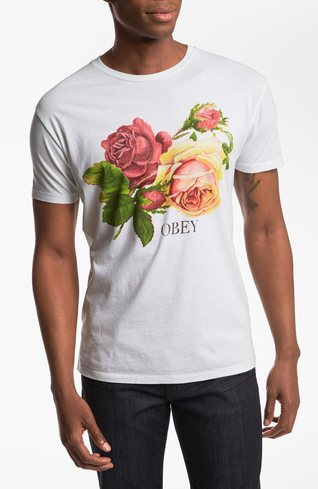 Alternate Image 1 Selected - Obey 'Bed of Roses' T-Shirt
