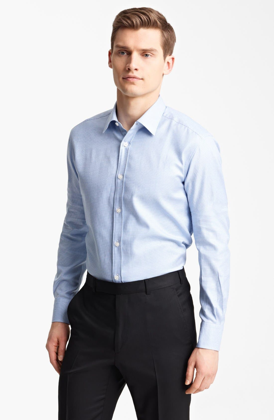 Alternate Image 1 Selected - Z Zegna Micro Houndstooth Cotton Dress Shirt