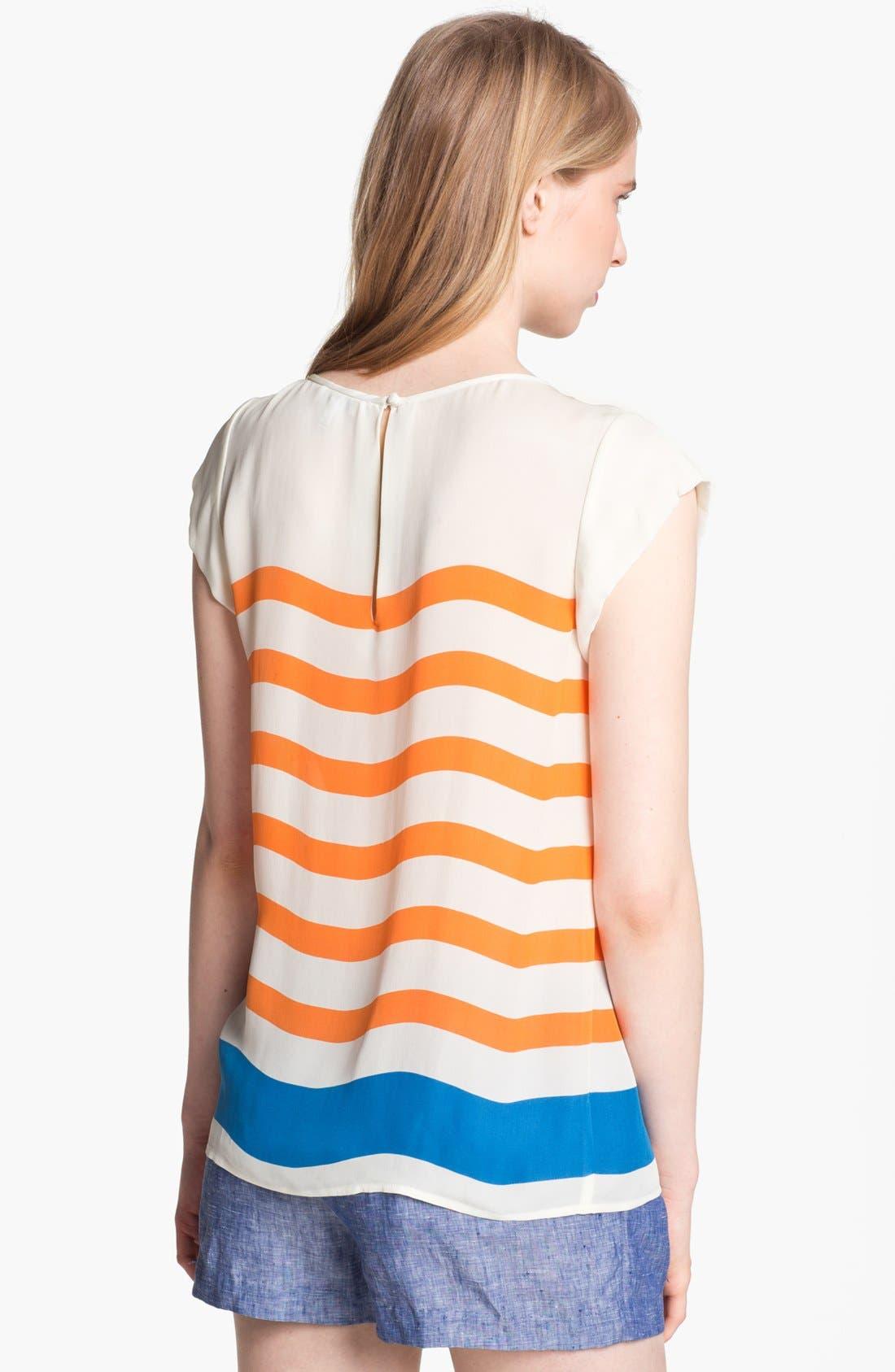 Alternate Image 2  - Joie 'Terry' Stripe Silk Top