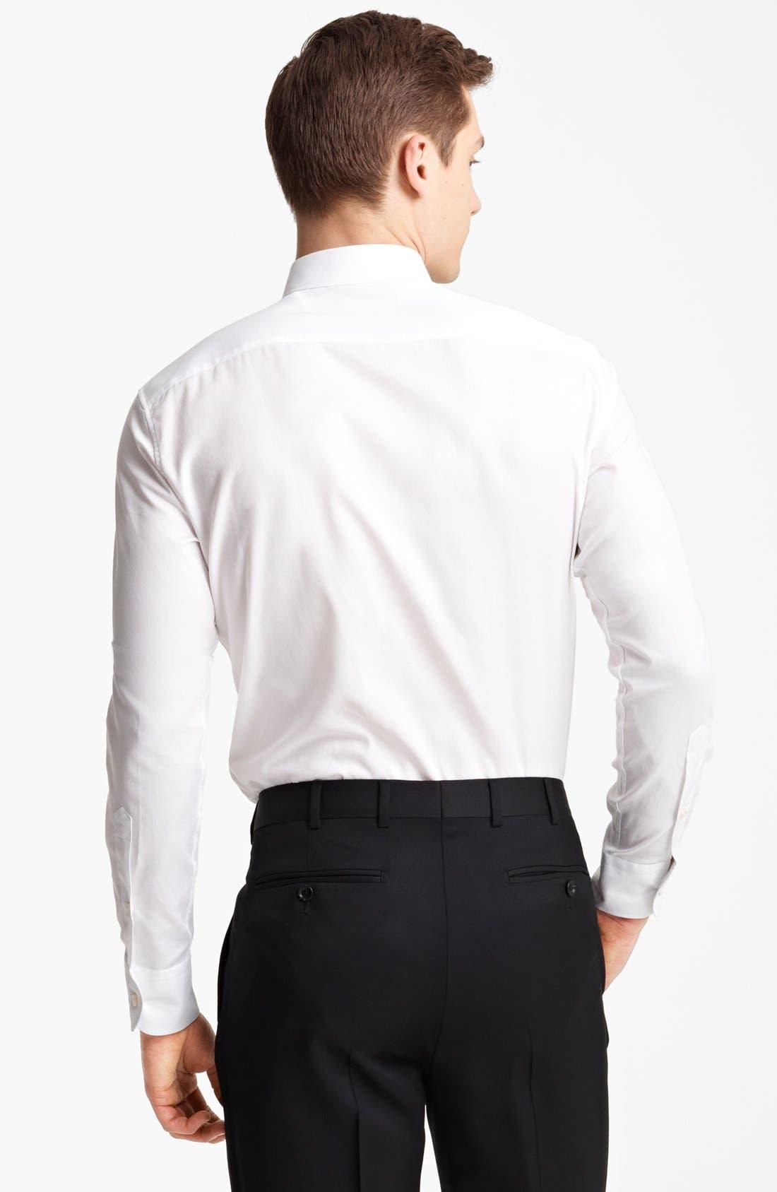 Alternate Image 2  - Z Zegna Micro Pinpoint Cotton Dress Shirt
