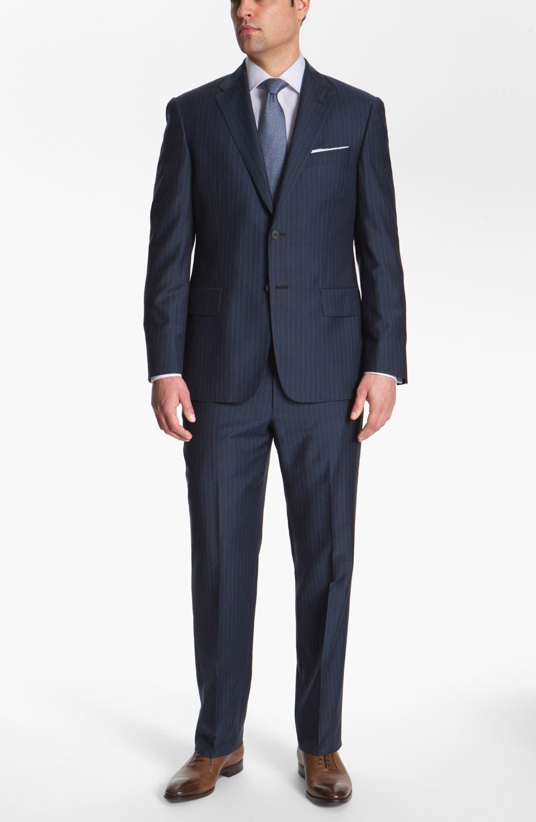Main Image - Joseph Abboud 'Platinum' Stripe Wool Suit