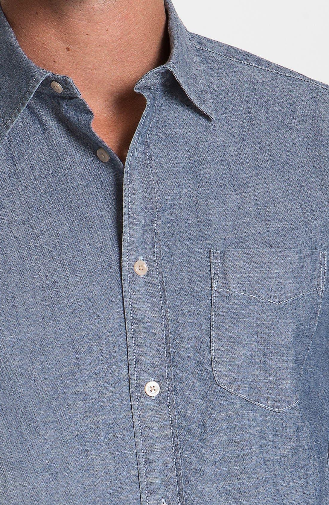 Alternate Image 3  - Façonnable Tailored Denim Regular Fit Chambray Sport Shirt