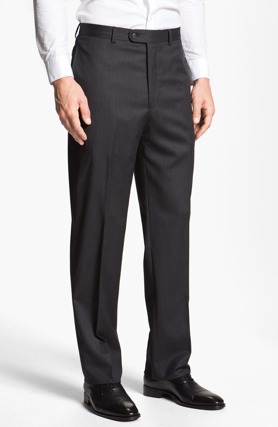 Alternate Image 4  - Joseph Abboud 'Signature Silver' Stripe Wool Suit (Online Only)
