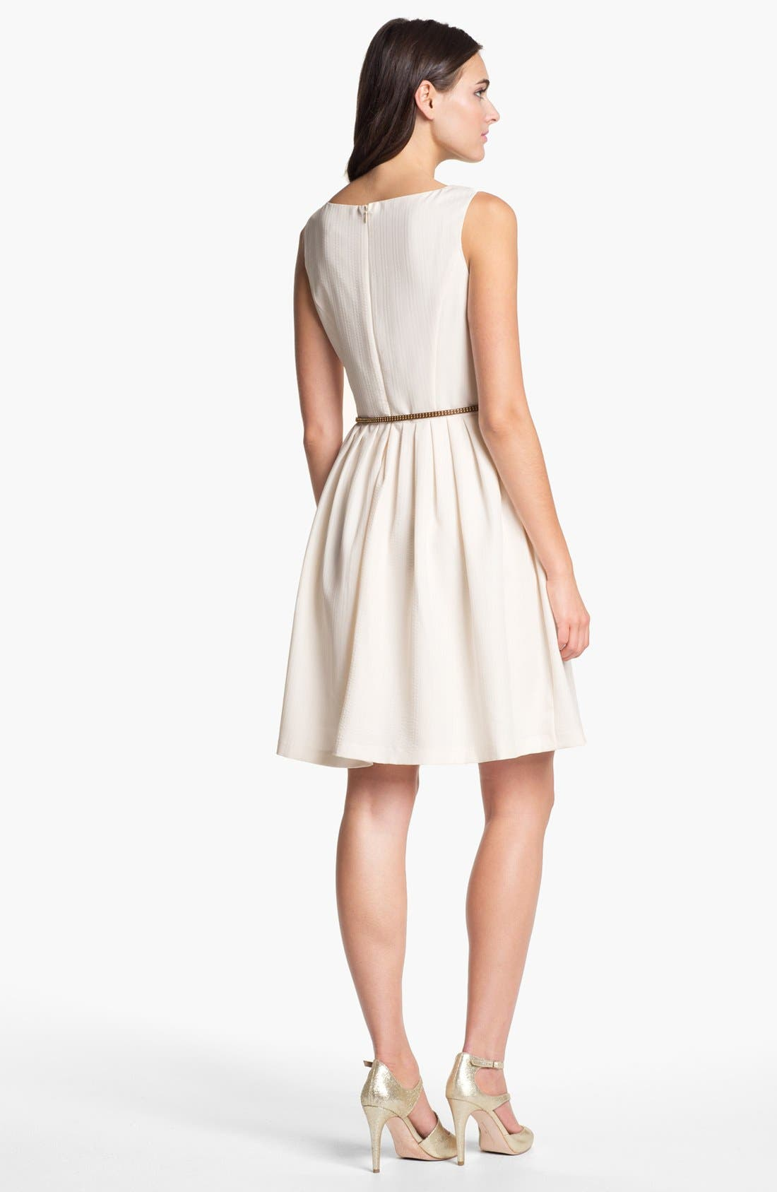 Alternate Image 2  - Ellen Tracy Pleated Fit & Flare Dress