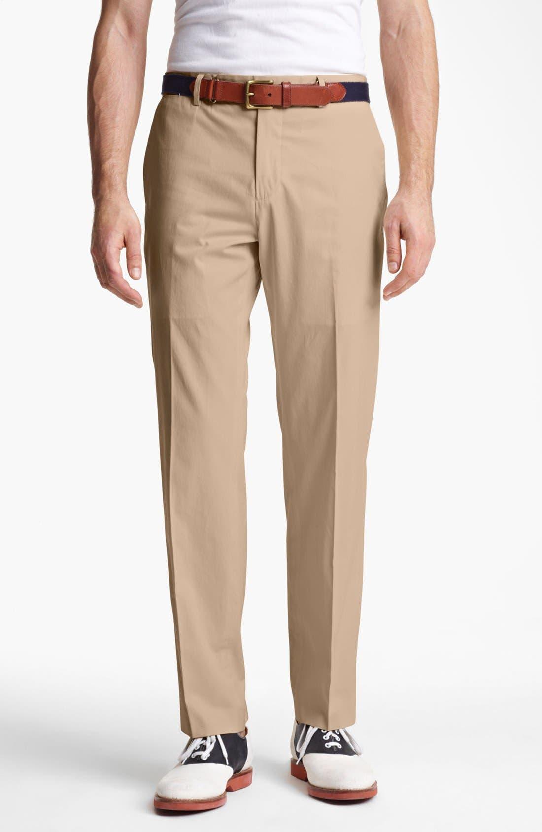 Alternate Image 1 Selected - Polo Ralph Lauren 'Preston' Silk & Cotton Pants