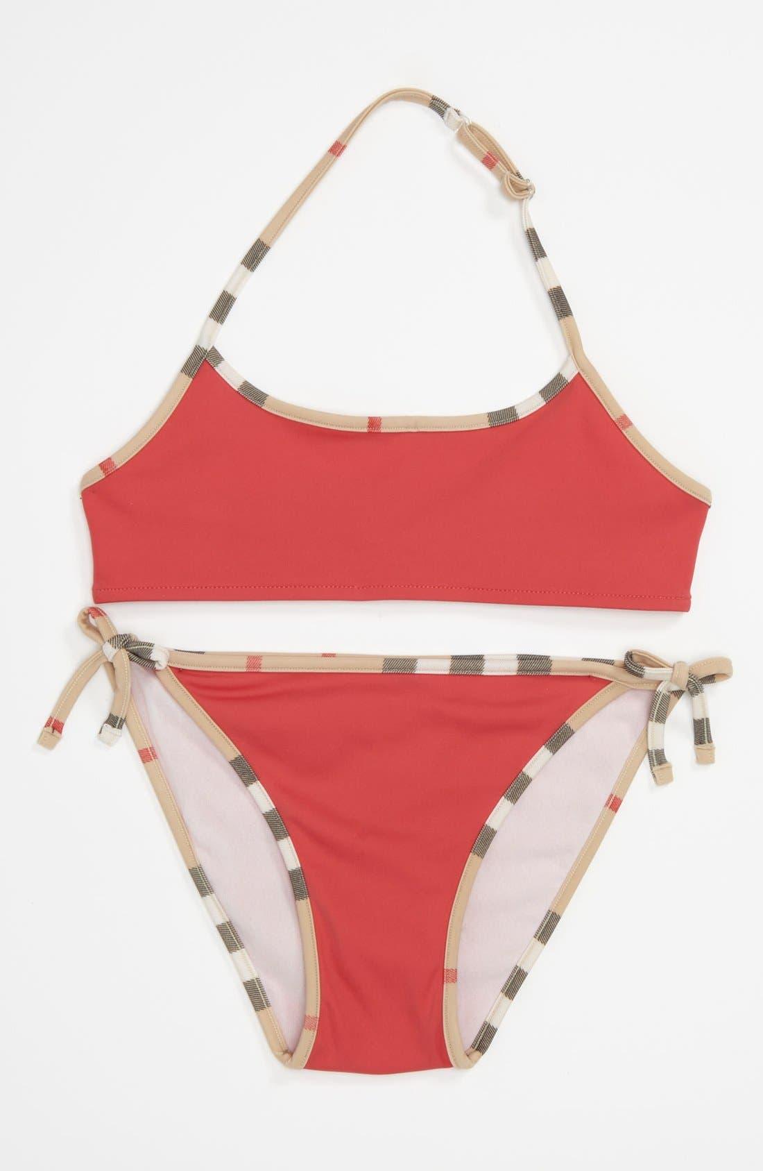 Main Image - Burberry 'Sancia' Two Piece Swimsuit (Little Girls & Big Girls)
