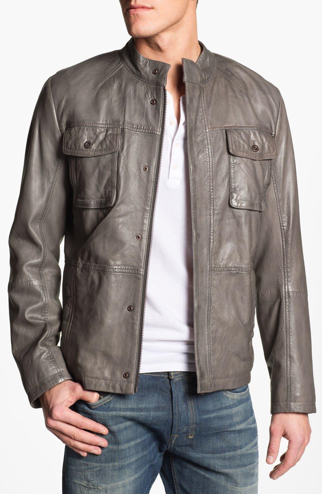 Alternate Image 1 Selected - BOSS Orange 'Joco' Leather Jacket