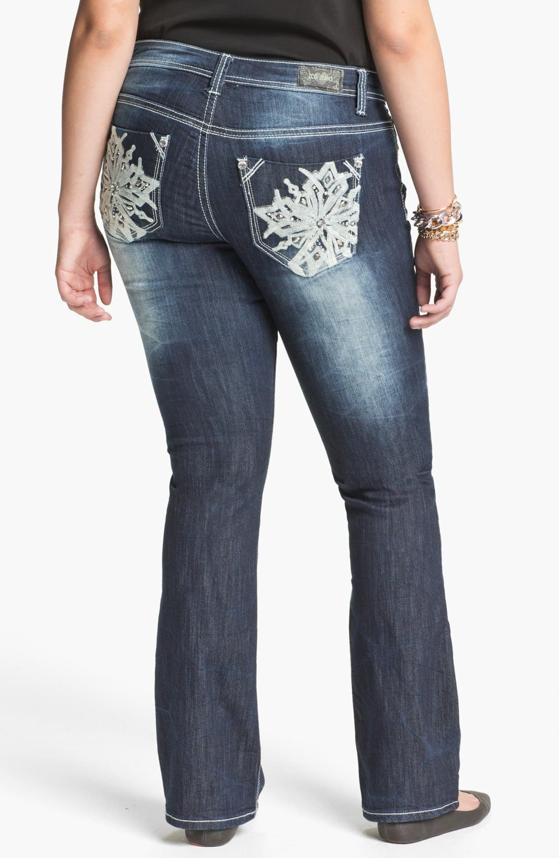 Alternate Image 2  - ZCO Bootcut Jeans (Juniors Plus)