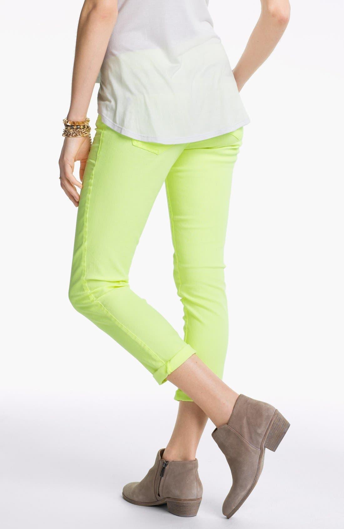 Alternate Image 2  - Jolt Colored Crop Skinny Jeans (Juniors)