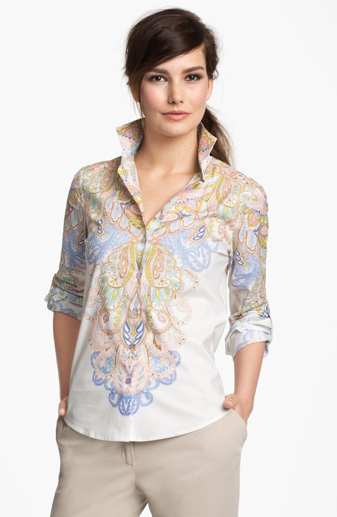 Alternate Image 1 Selected - Robert Graham 'Whitney' Long Sleeve Blouse