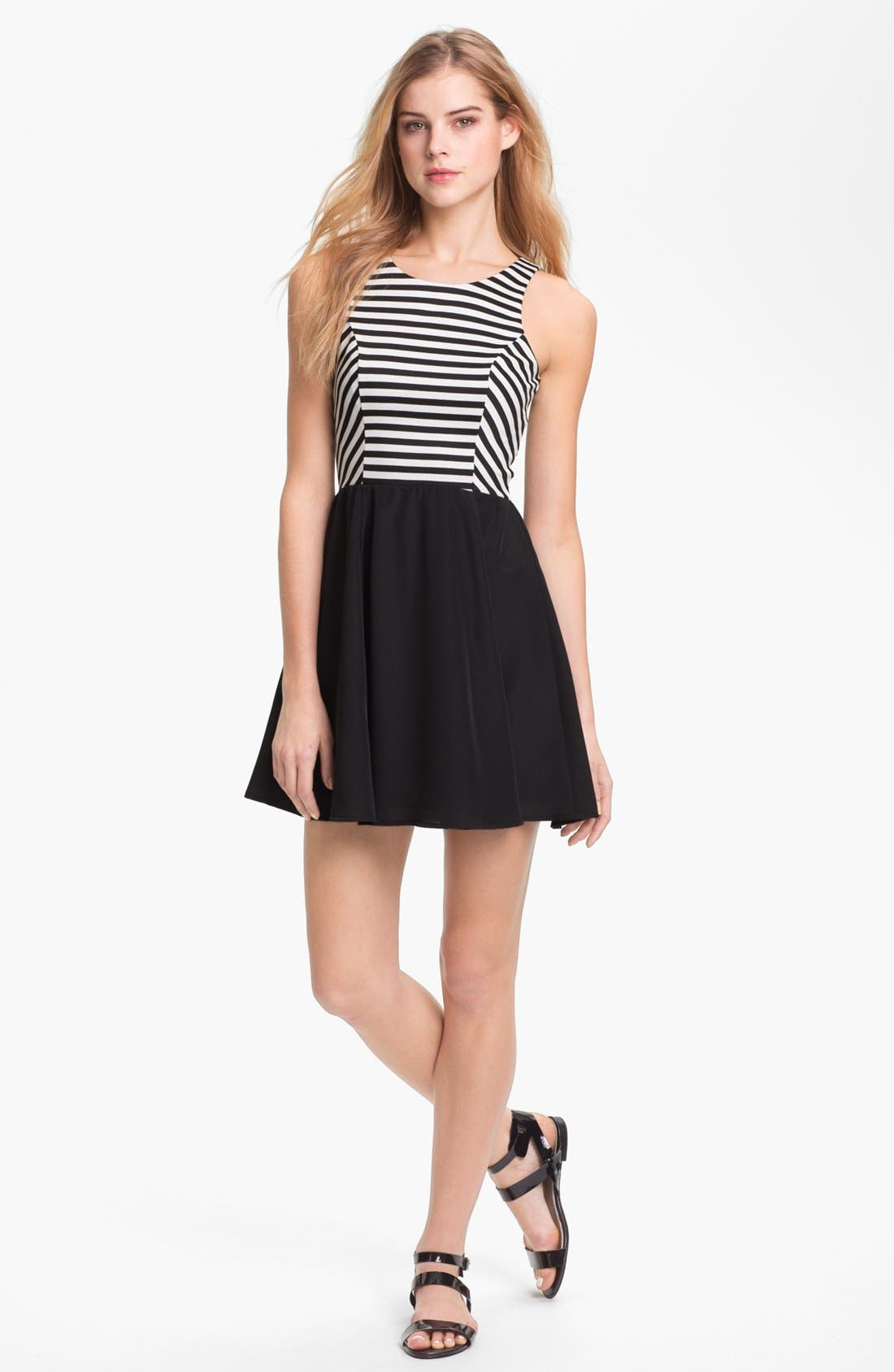 Alternate Image 1 Selected - Eight Sixty Sleeveless Mock Two Piece Dress
