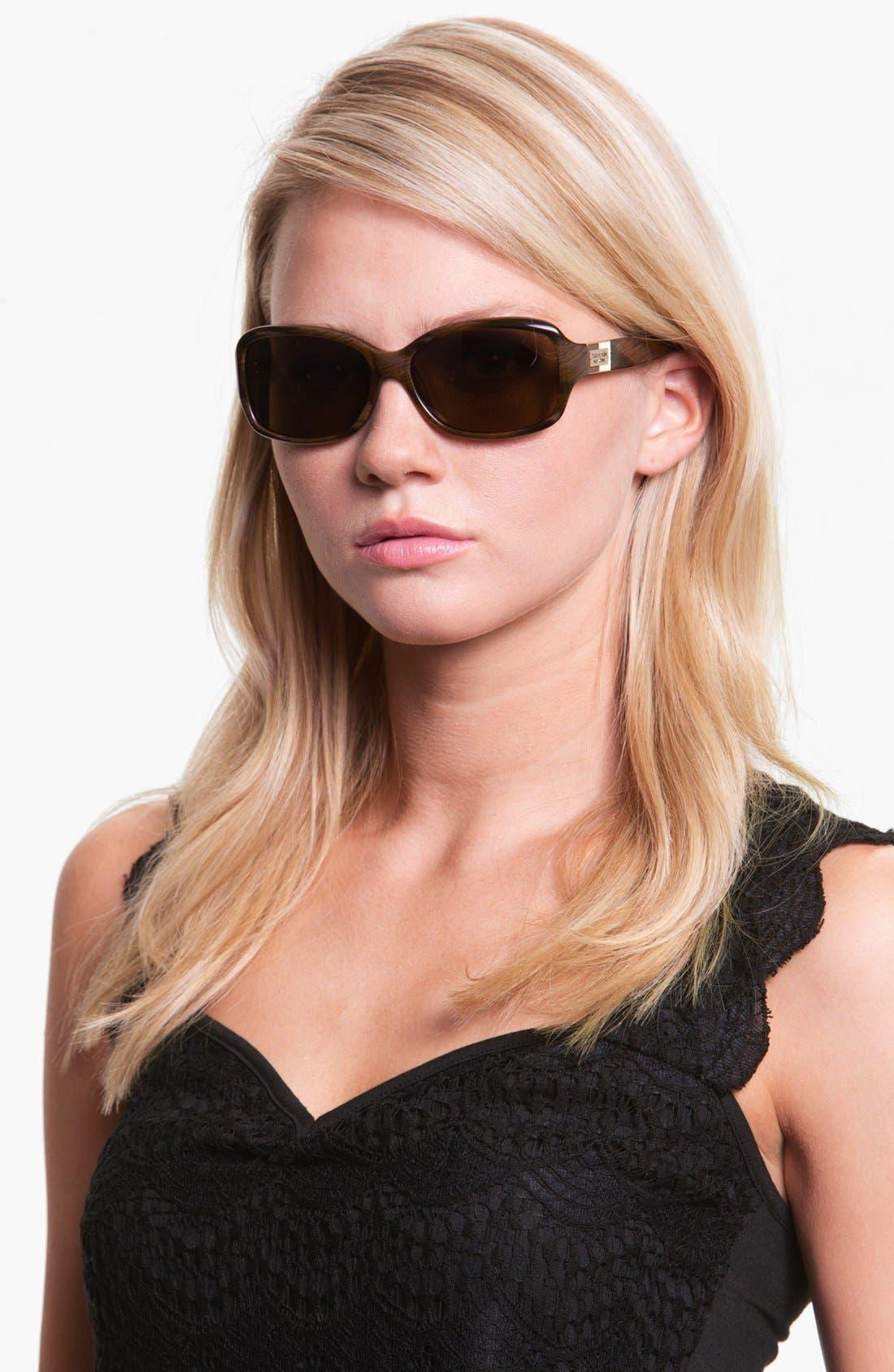 Alternate Image 3  - kate spade new york 'annika' 56mm polarized rectangular sunglasses