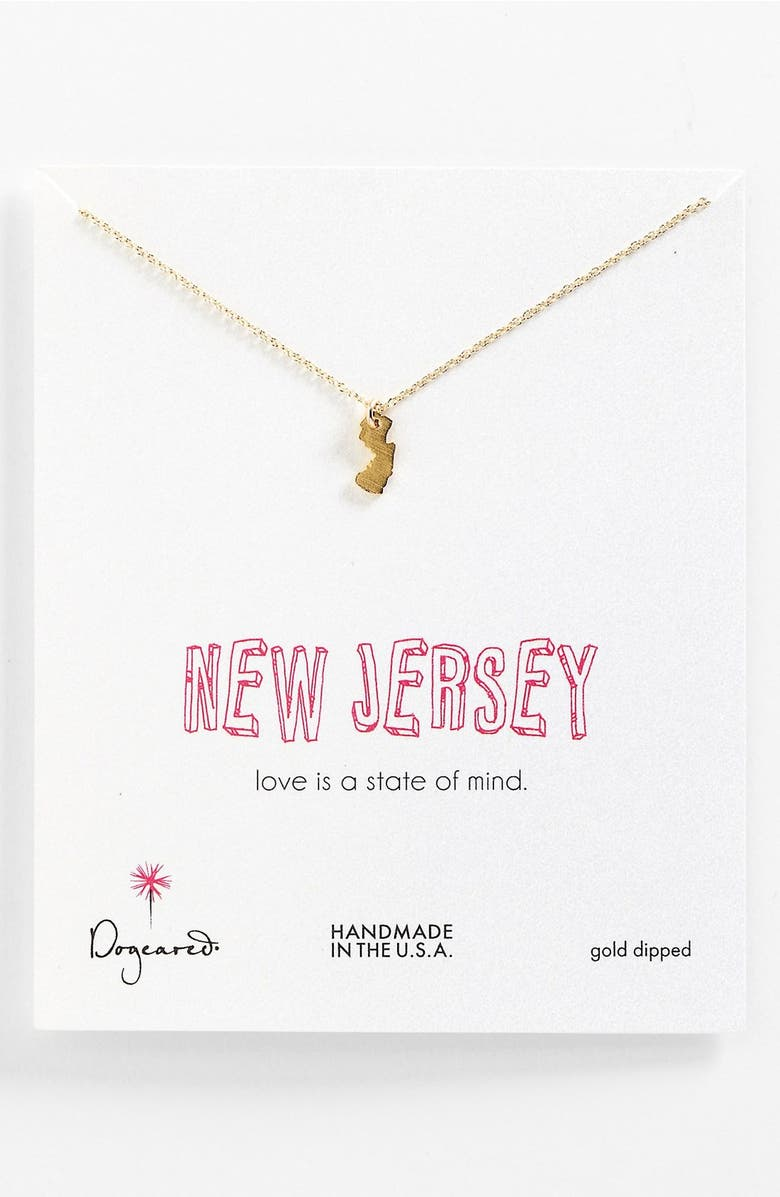 Dogeared state of mind new jersey pendant necklace nordstrom state of mind new jersey pendant necklace main aloadofball Image collections