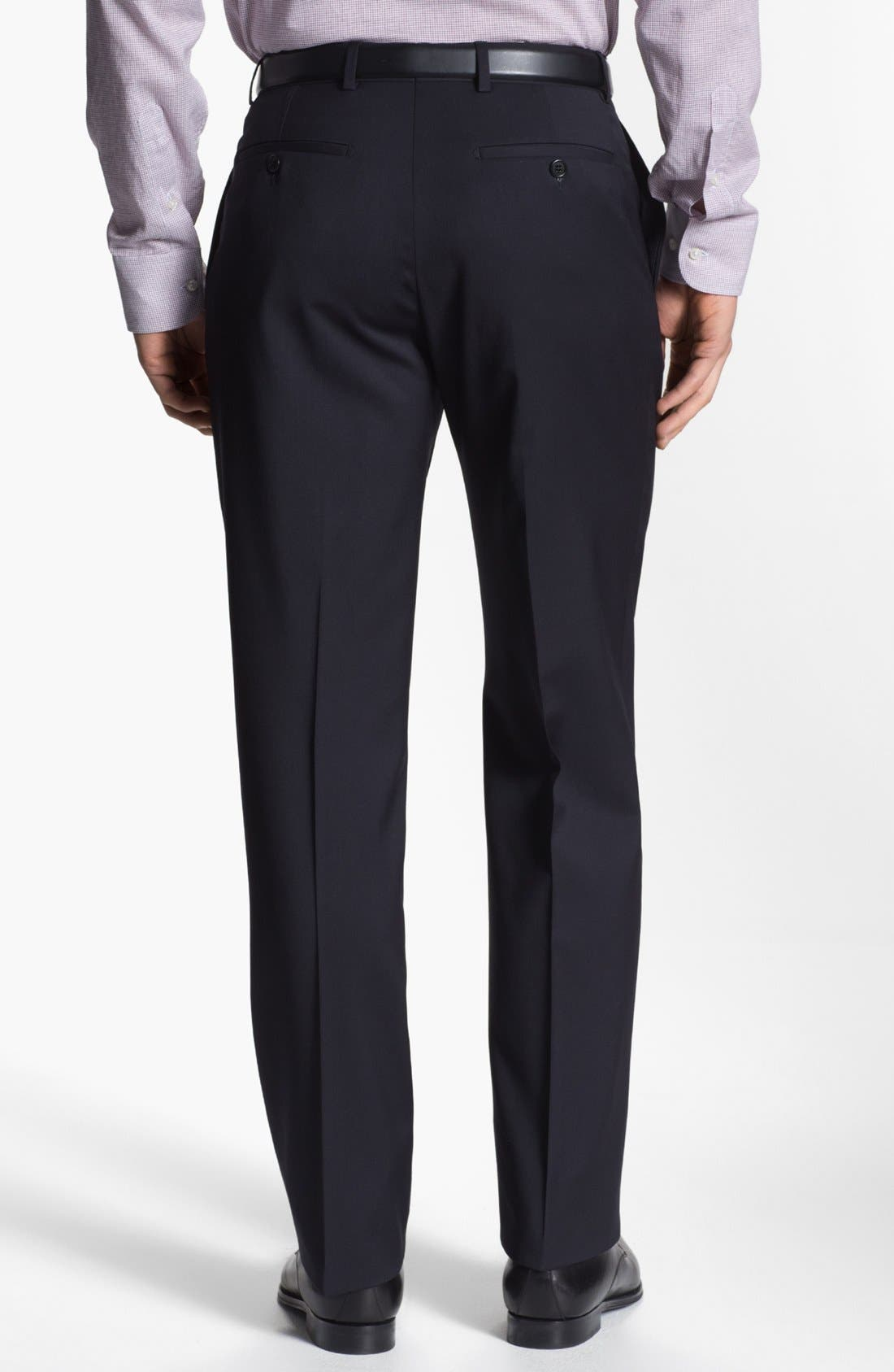 Alternate Image 4  - Armani Collezioni Flat Front Wool Trousers