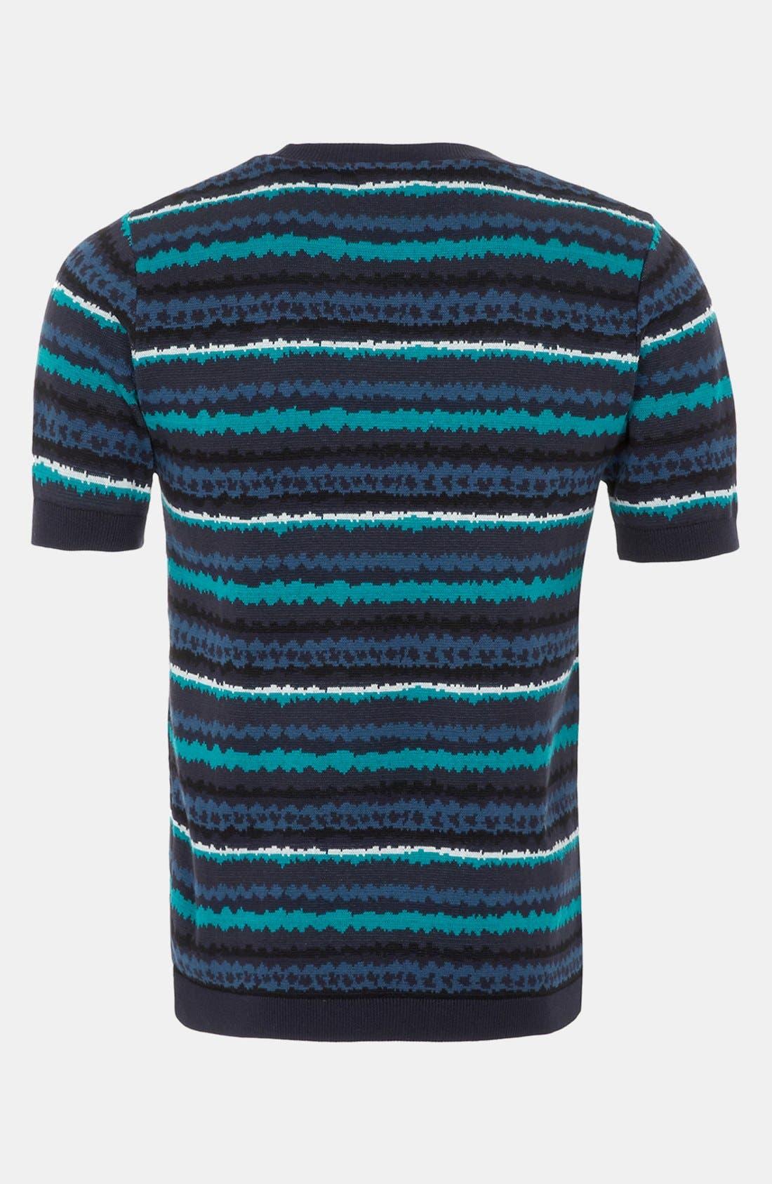 Alternate Image 2  - Topman 'Static' Short Sleeve Sweater