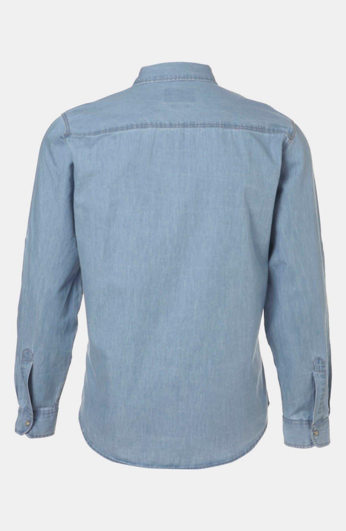 Alternate Image 2  - Topman Denim Western Shirt