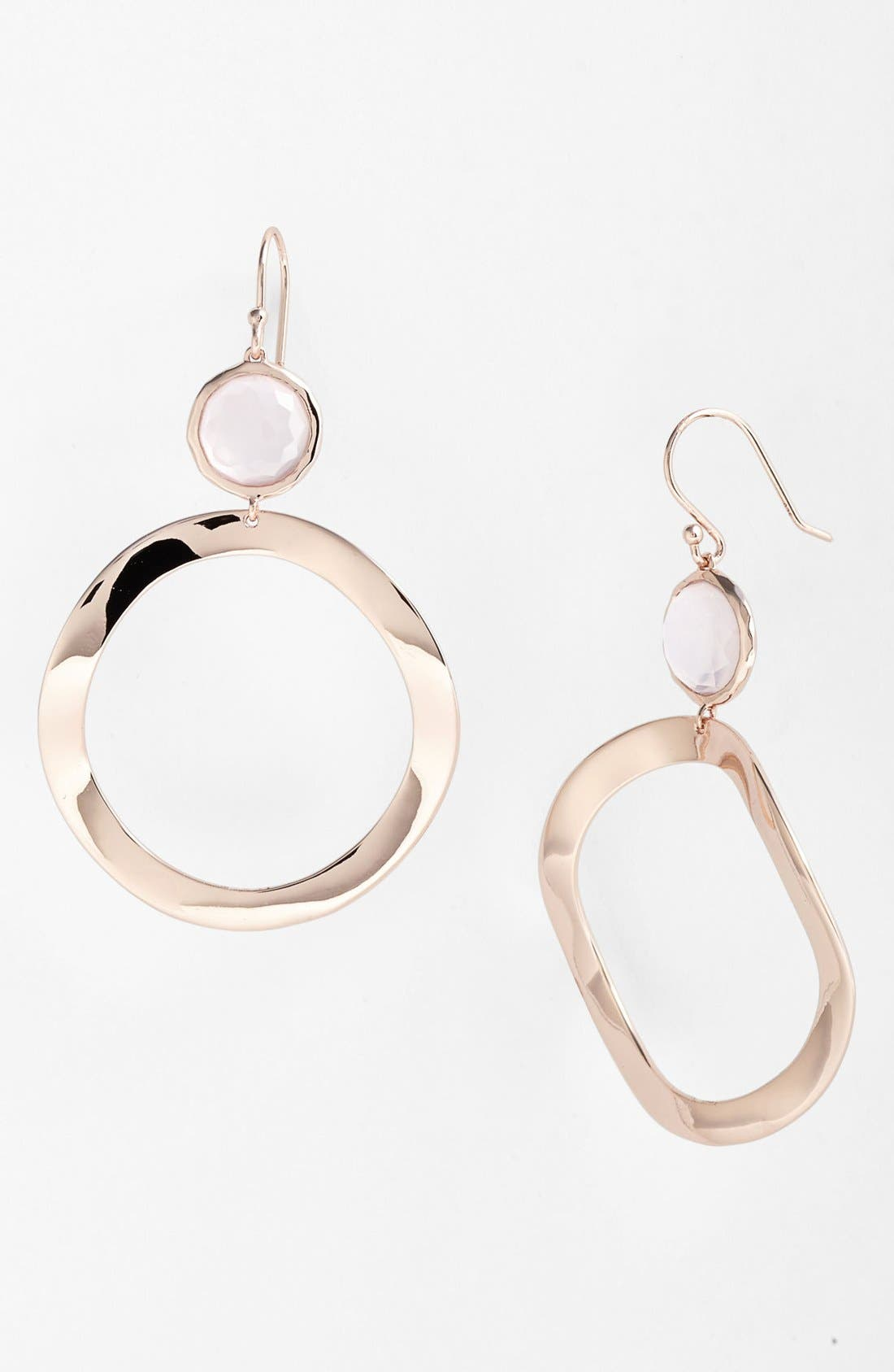 Alternate Image 1 Selected - Ippolita 'Lite Links - Snowman' Rosé Open Circle Drop Earrings