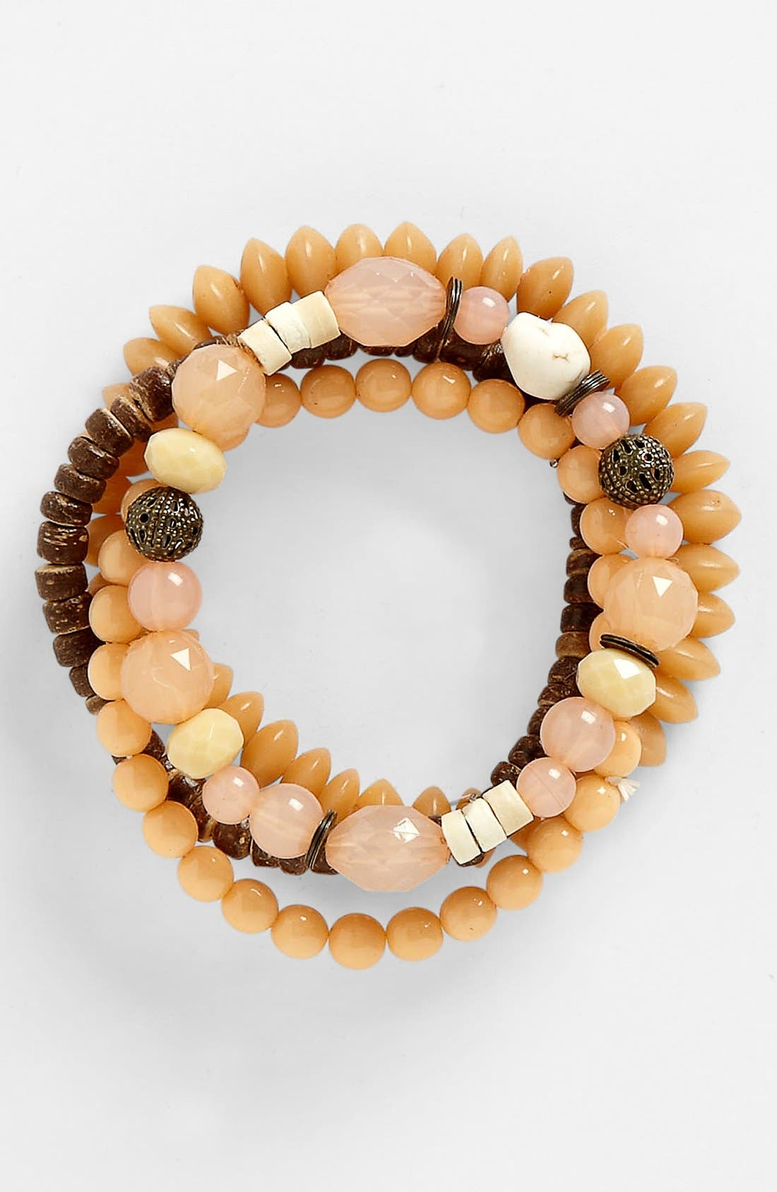 Alternate Image 1 Selected - Rachel 'Boho' Stretch Bracelets (Set of 4)