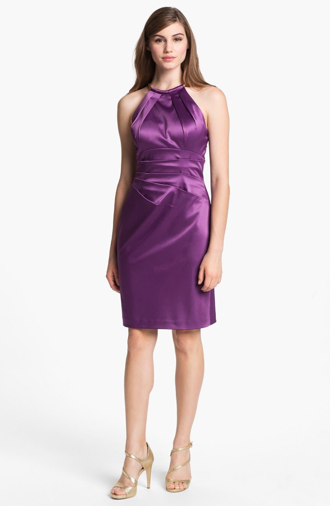 Main Image - Eliza J Sleeveless Pleated Sheath Dress