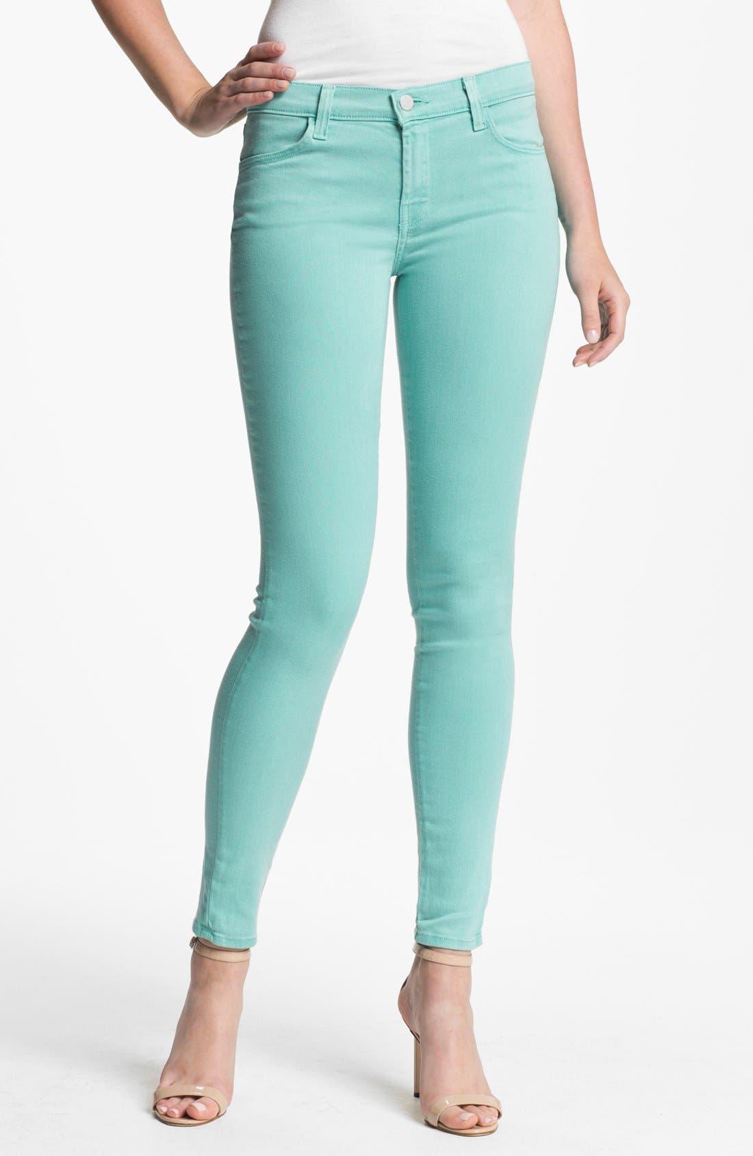 Main Image - J Brand '620' Overdyed Skinny Leg Jeans (Columbia)