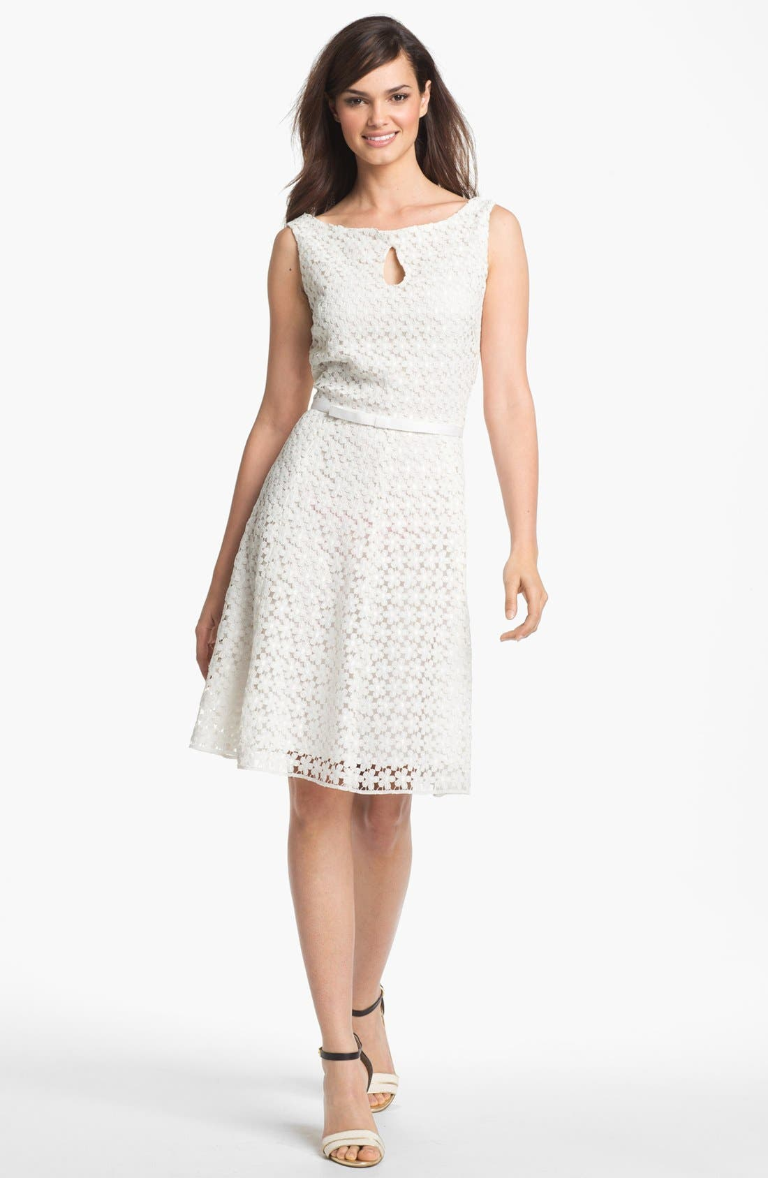 Alternate Image 1 Selected - Taylor Dresses Lace Fit & Flare Dress