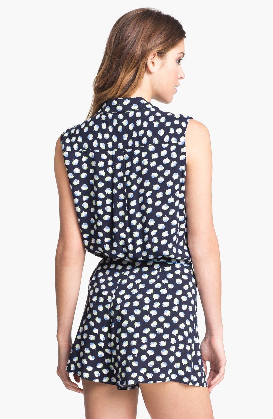 Alternate Image 2  - Two by Vince Camuto Sleeveless Floral Shirt