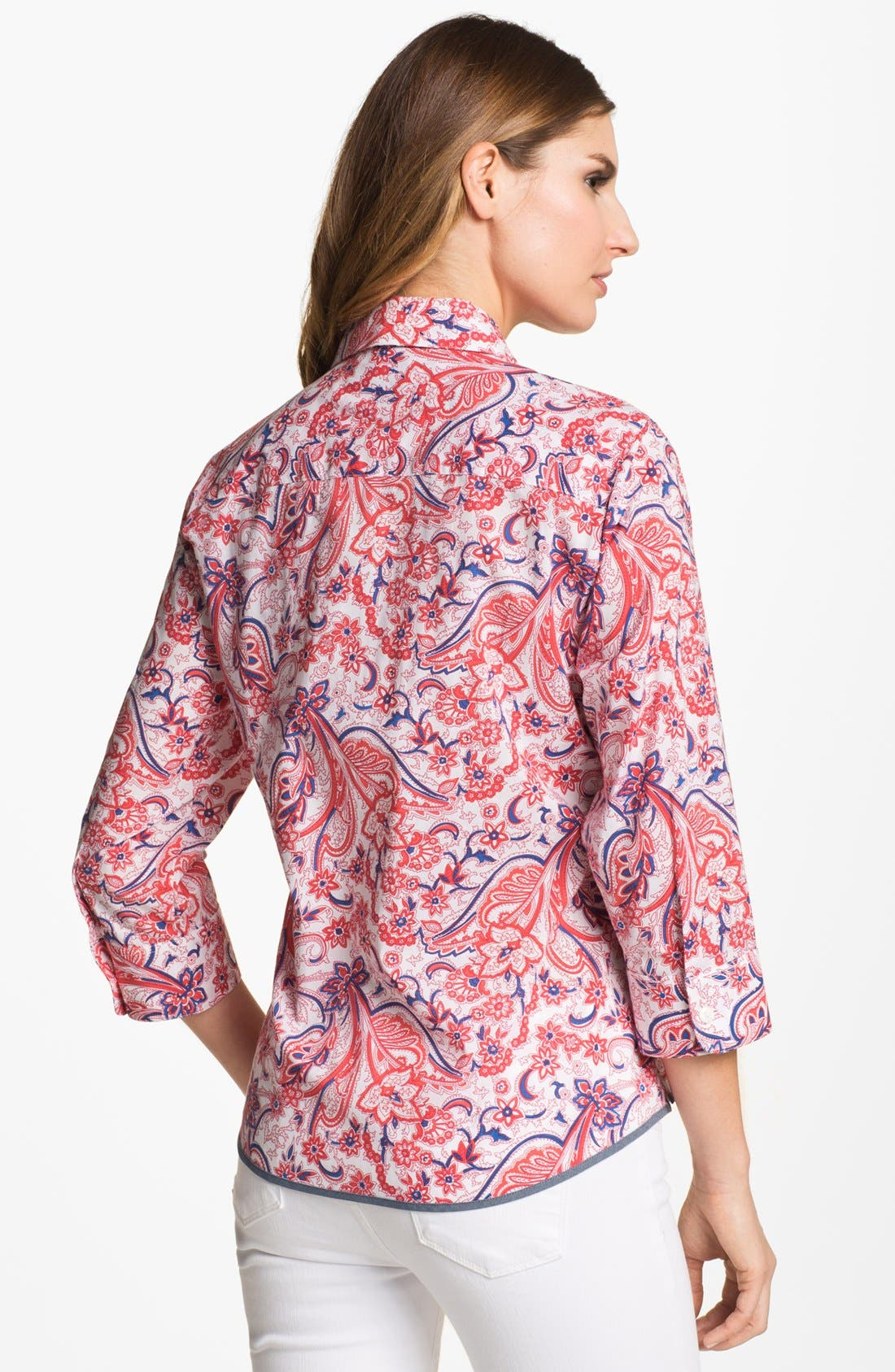 Alternate Image 2  - Foxcroft Paisley Bandana Print Shirt