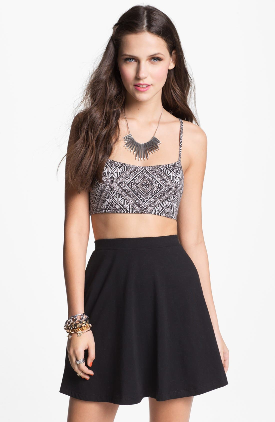 Main Image - Painted Threads Cutout Bralette (Juniors) (Online Only)